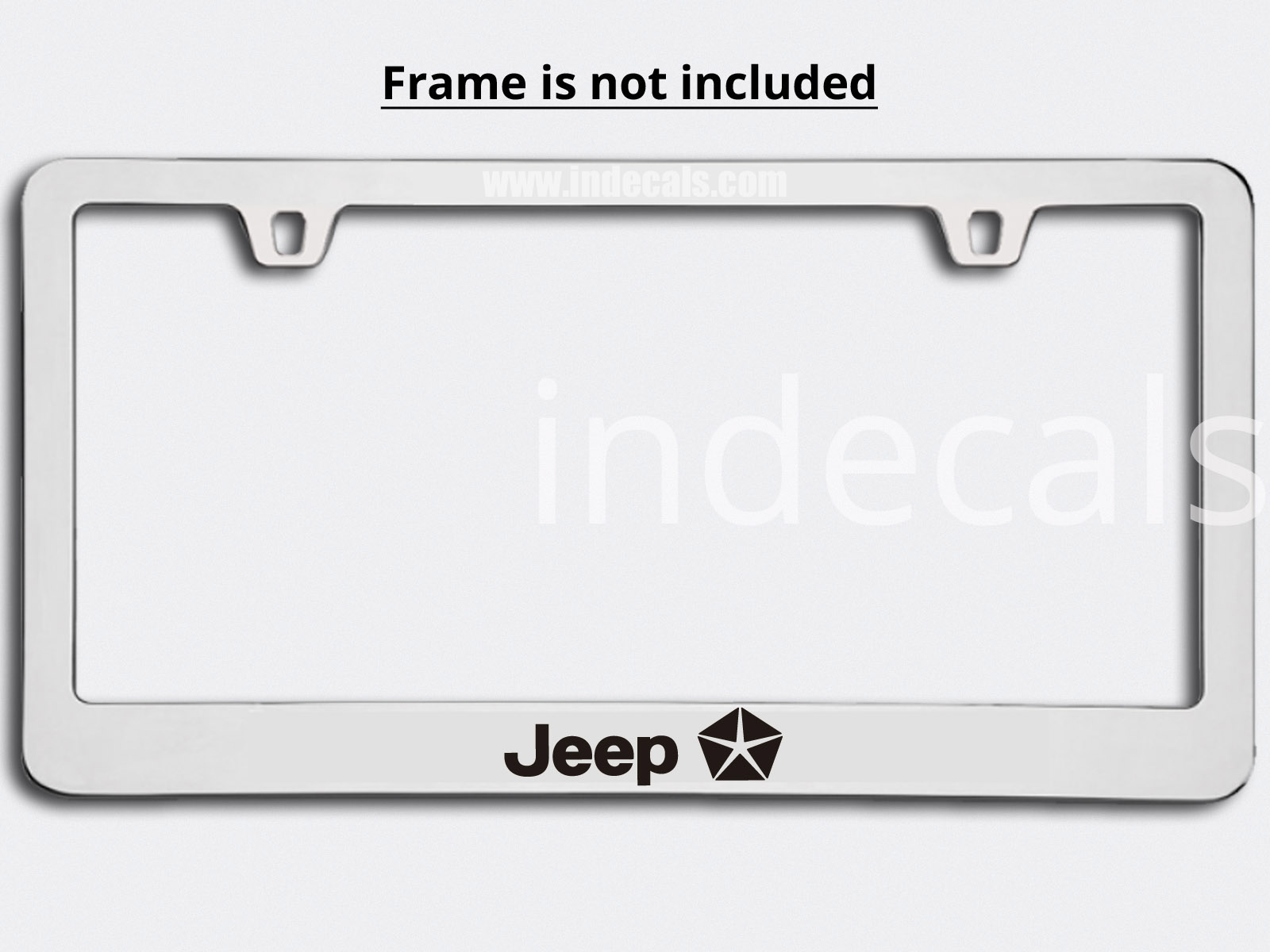 3 x Jeep Stickers for Plate Frame - Black