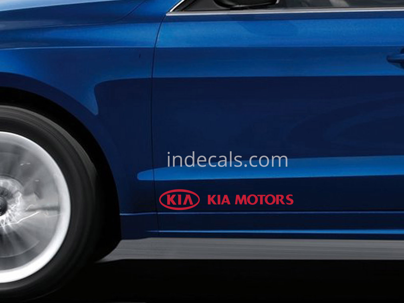 2 x Kia Stickers for Doors Large - Red