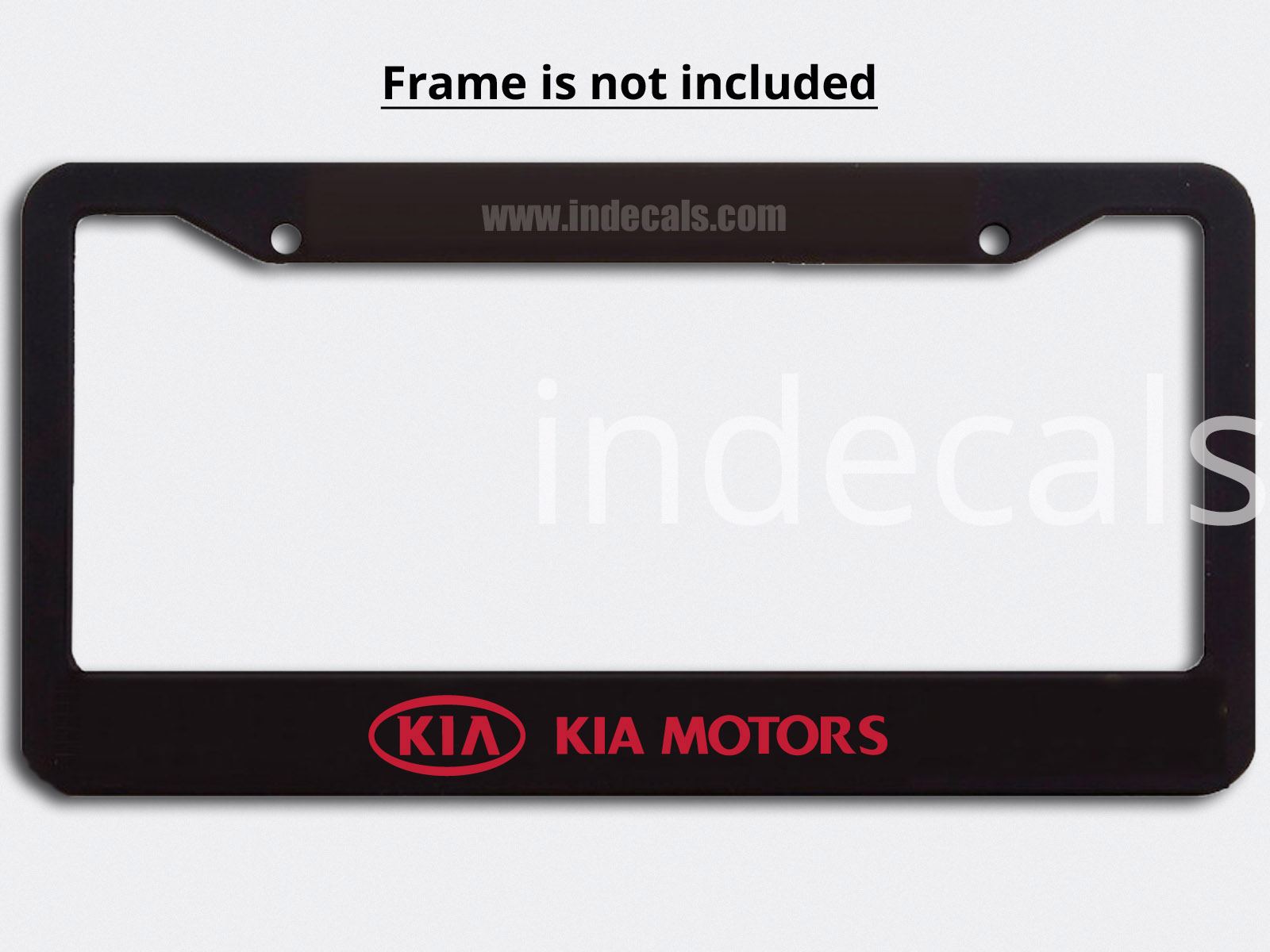 3 x Kia Stickers for Plate Frame - Red