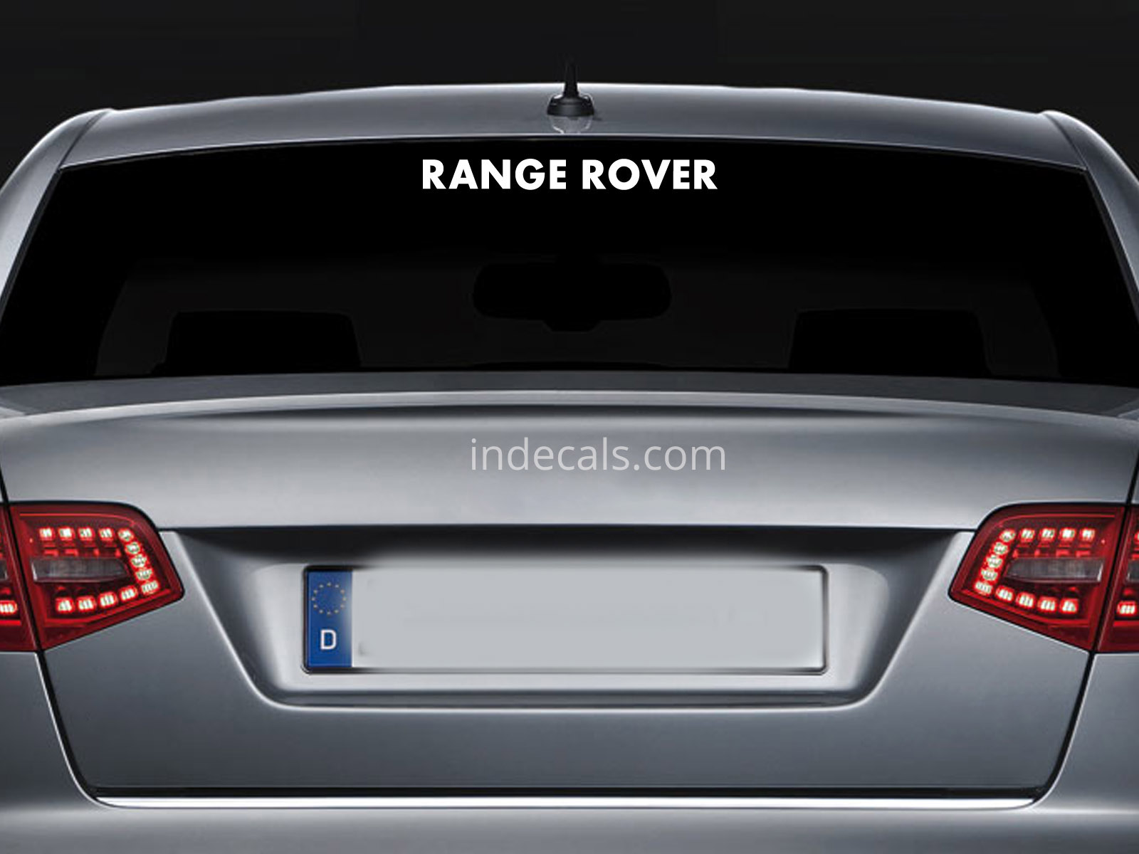 1 x Range Rover Sticker for Windshield or Back Window - White