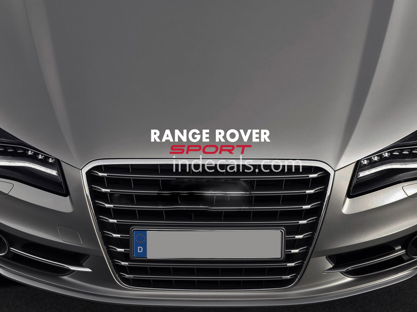 1 x Range Rover Sport Sticker for Bonnet - White & Red
