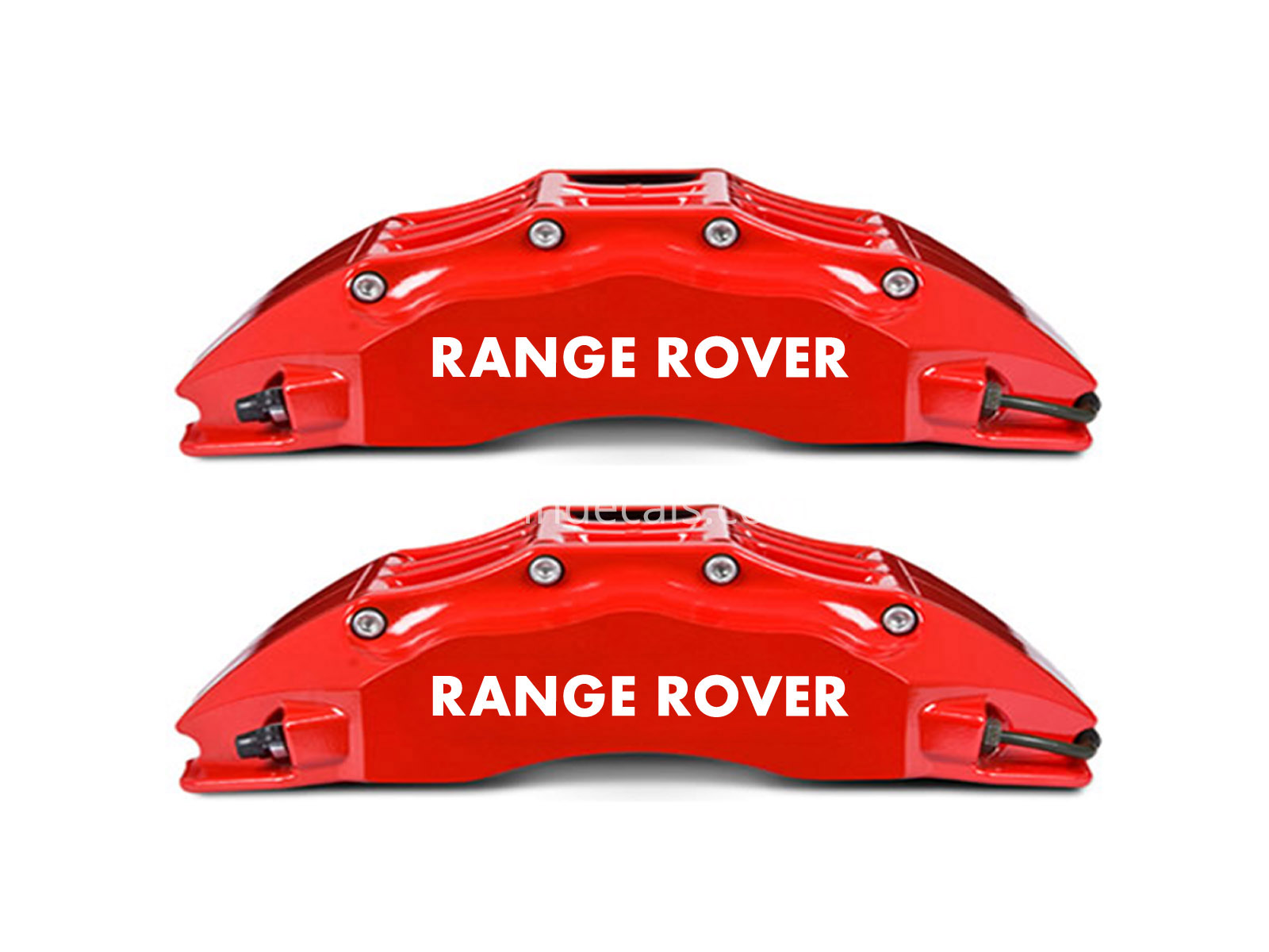 6 x Range Rover Stickers for Brakes - White