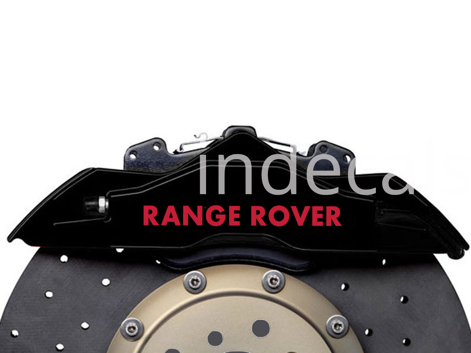6 x Range Rover Stickers for Brakes - Red