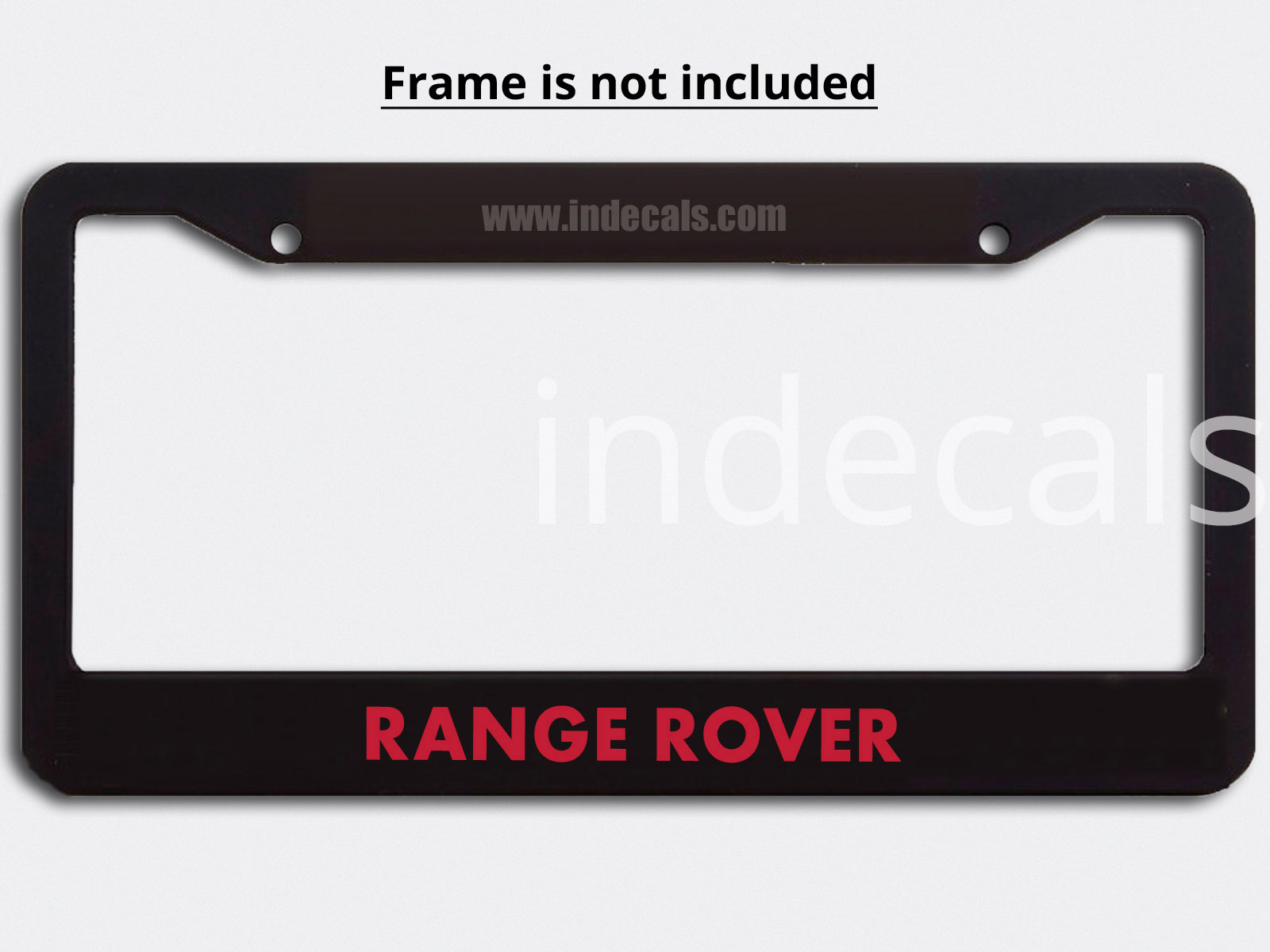 3 x Range Rover Stickers for Plate Frame - Red