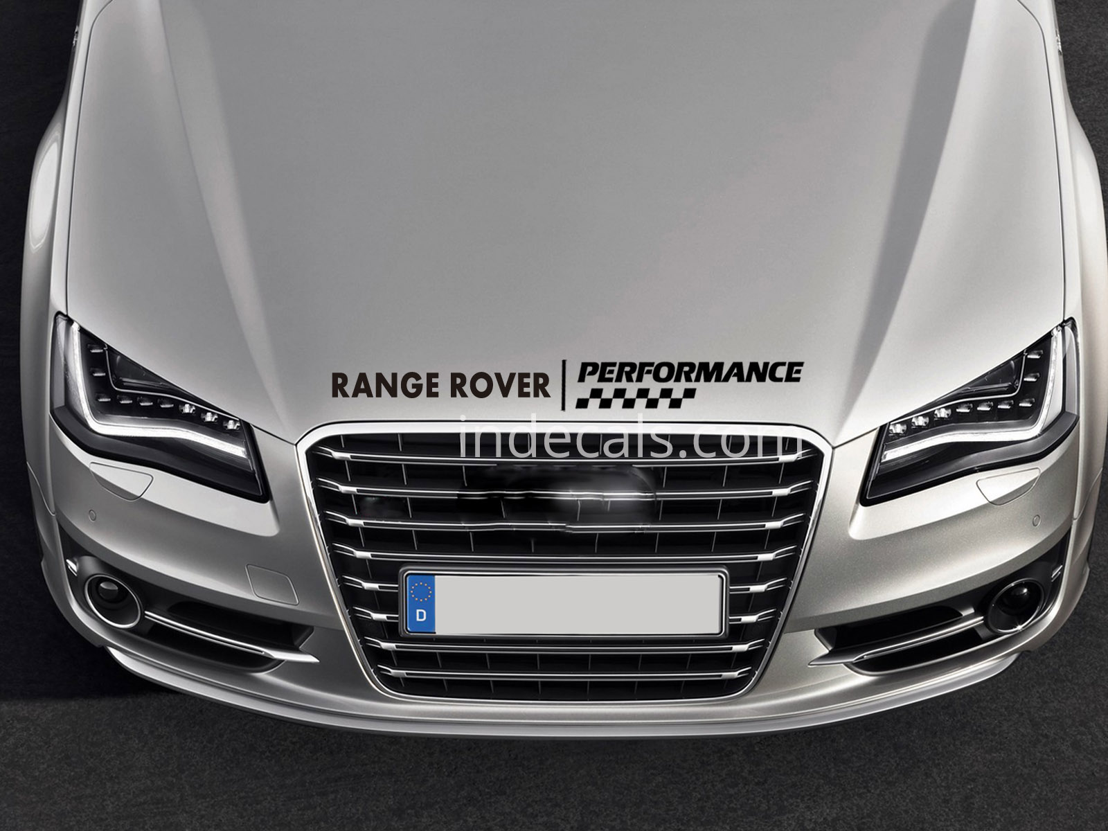 1 x Range Rover Performance Sticker for Bonnet - Black