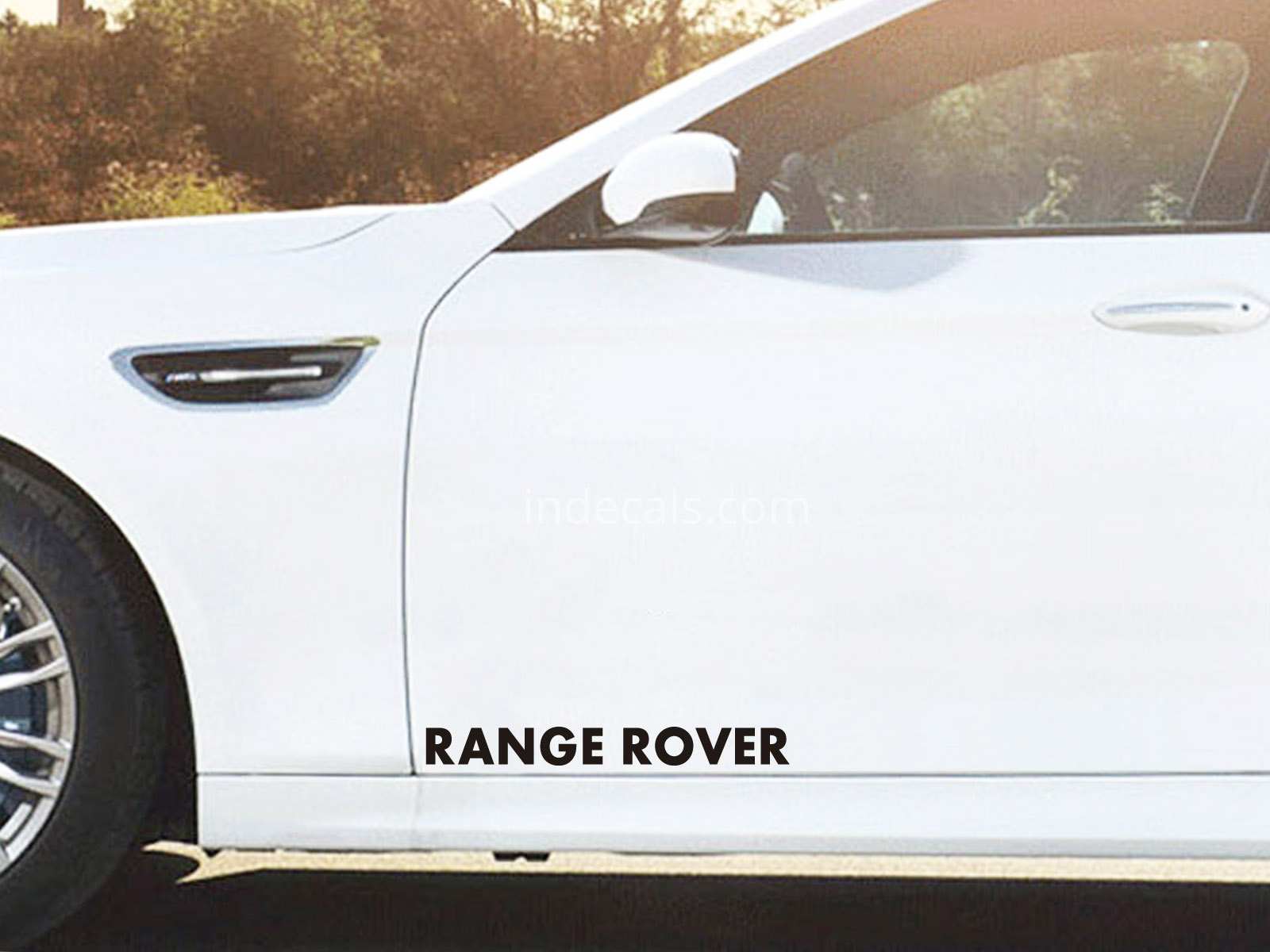 2 x Range Rover Stickers for Doors Large - Black