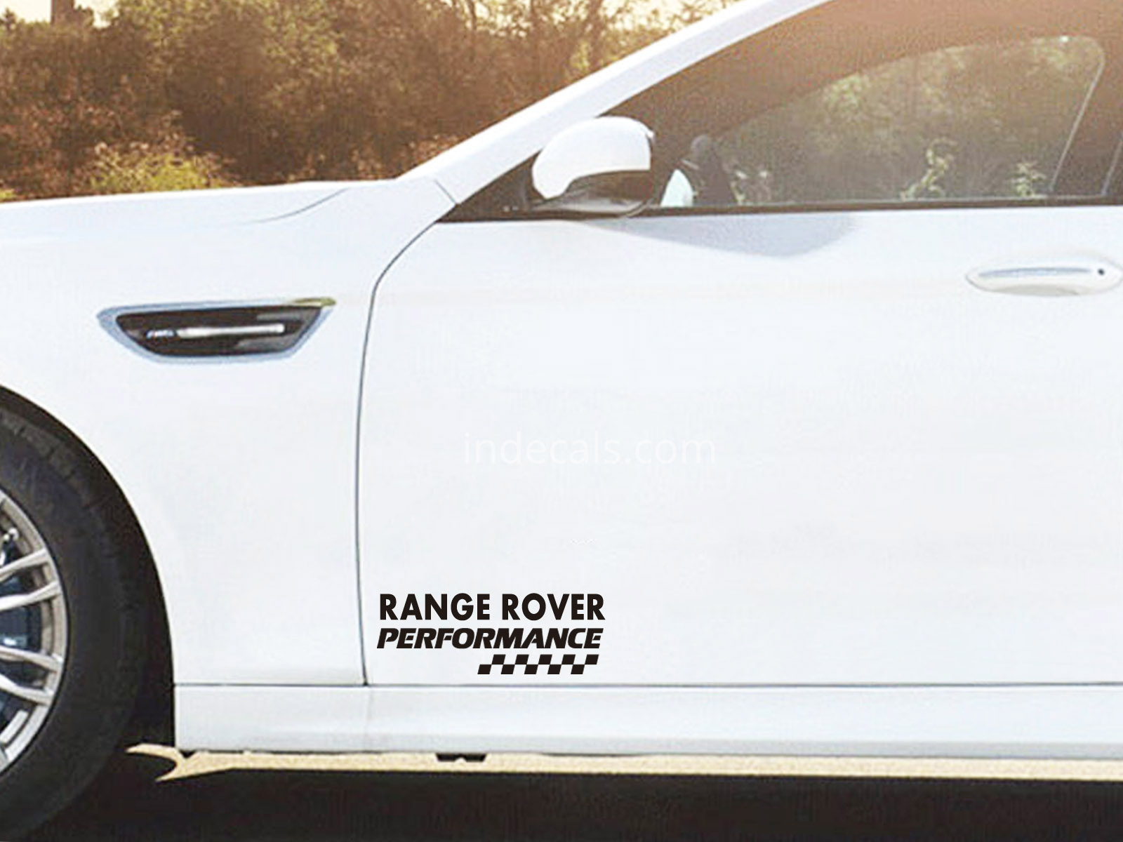 2 x Range Rover Performance Stickers for Doors - Black