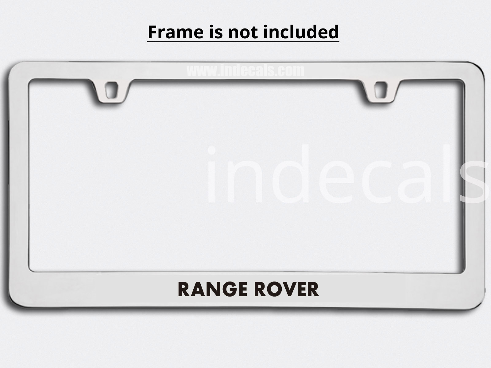 3 x Range Rover Stickers for Plate Frame - Black