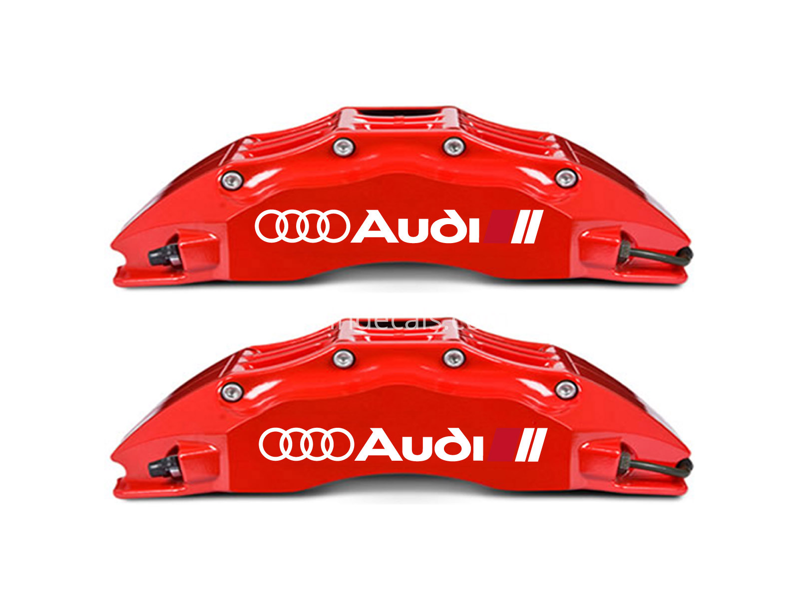 6 x Audi Stickers for Brakes - White
