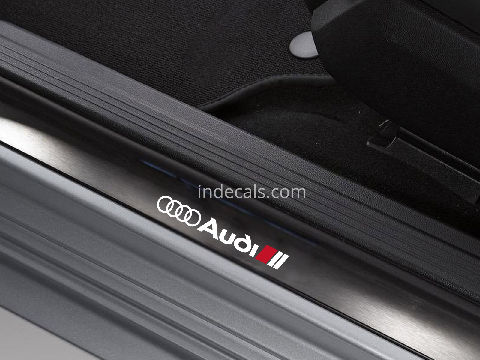 6 x Audi Stickers for Door Sills - White