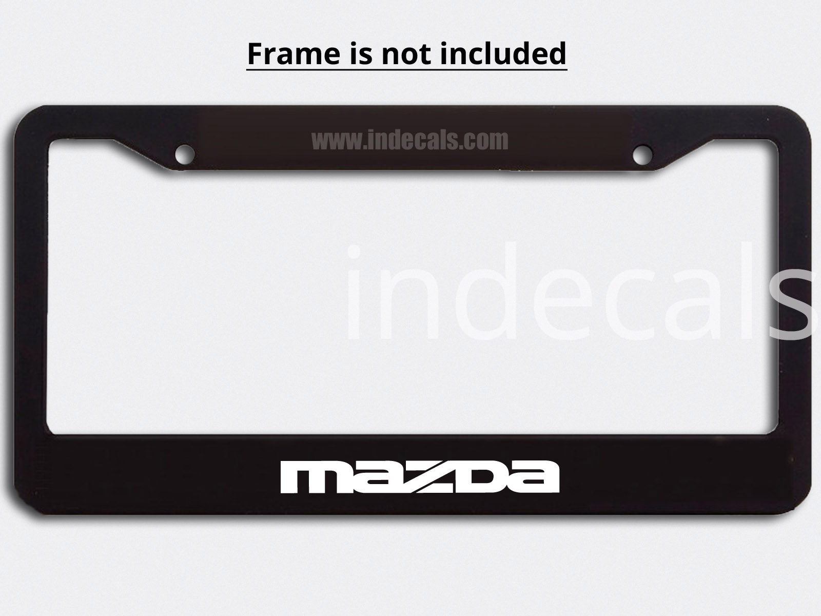 3 x Mazda Stickers for Plate Frame - White