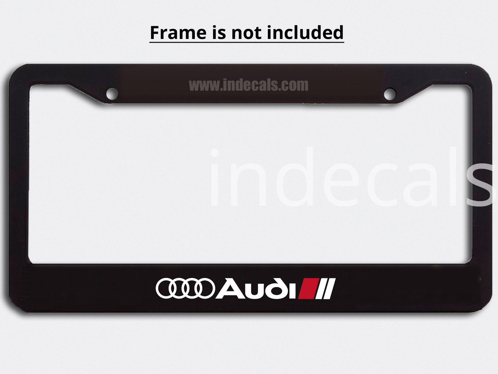 3 x Audi Stickers for Plate Frame - White