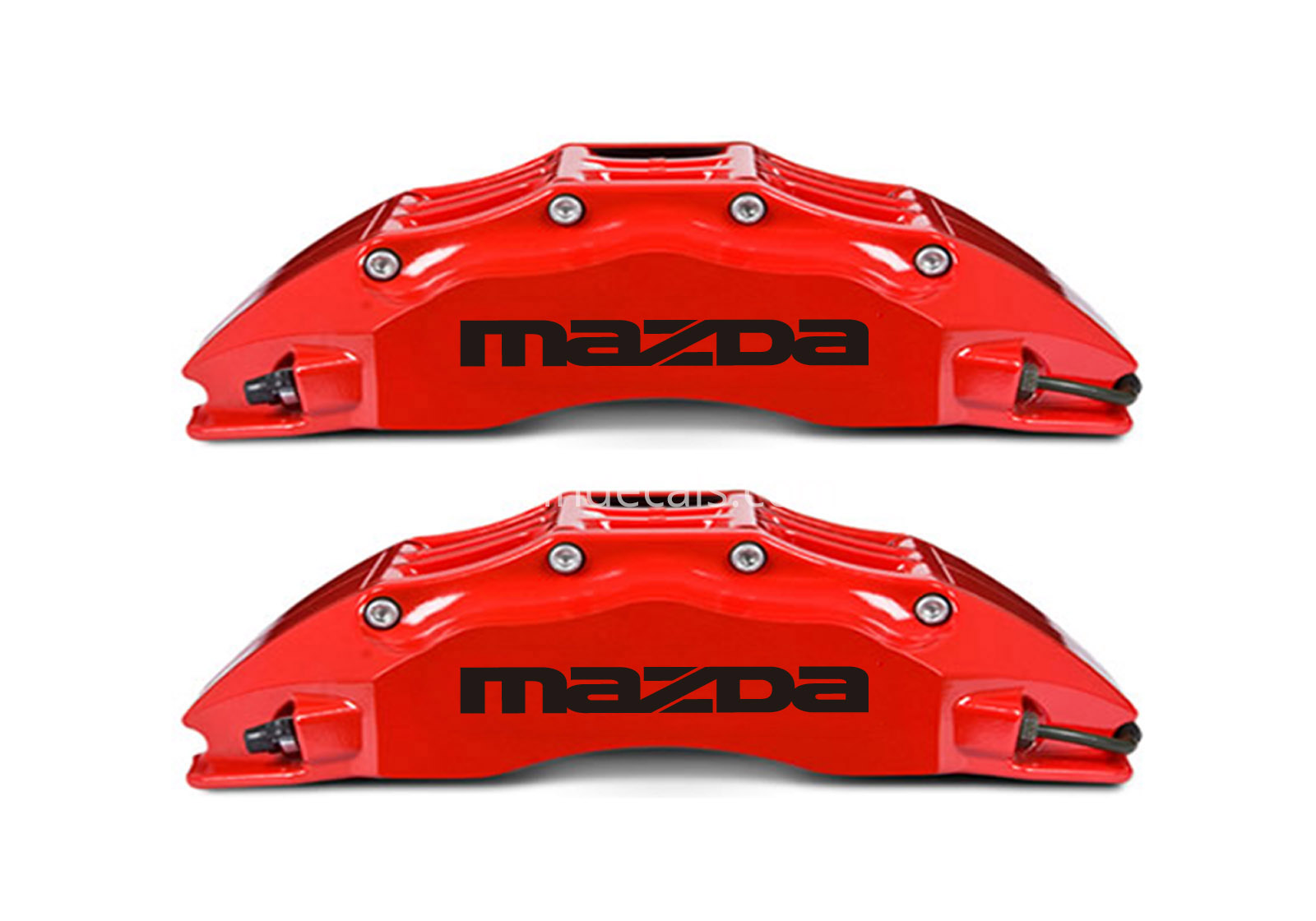 6 x Mazda Stickers for Brakes - Black