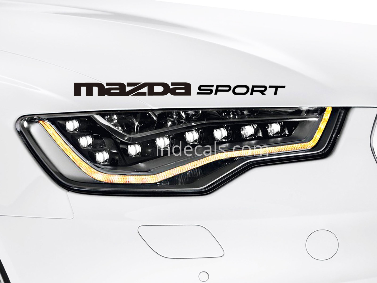 1 x Mazda Sport Sticker - Black