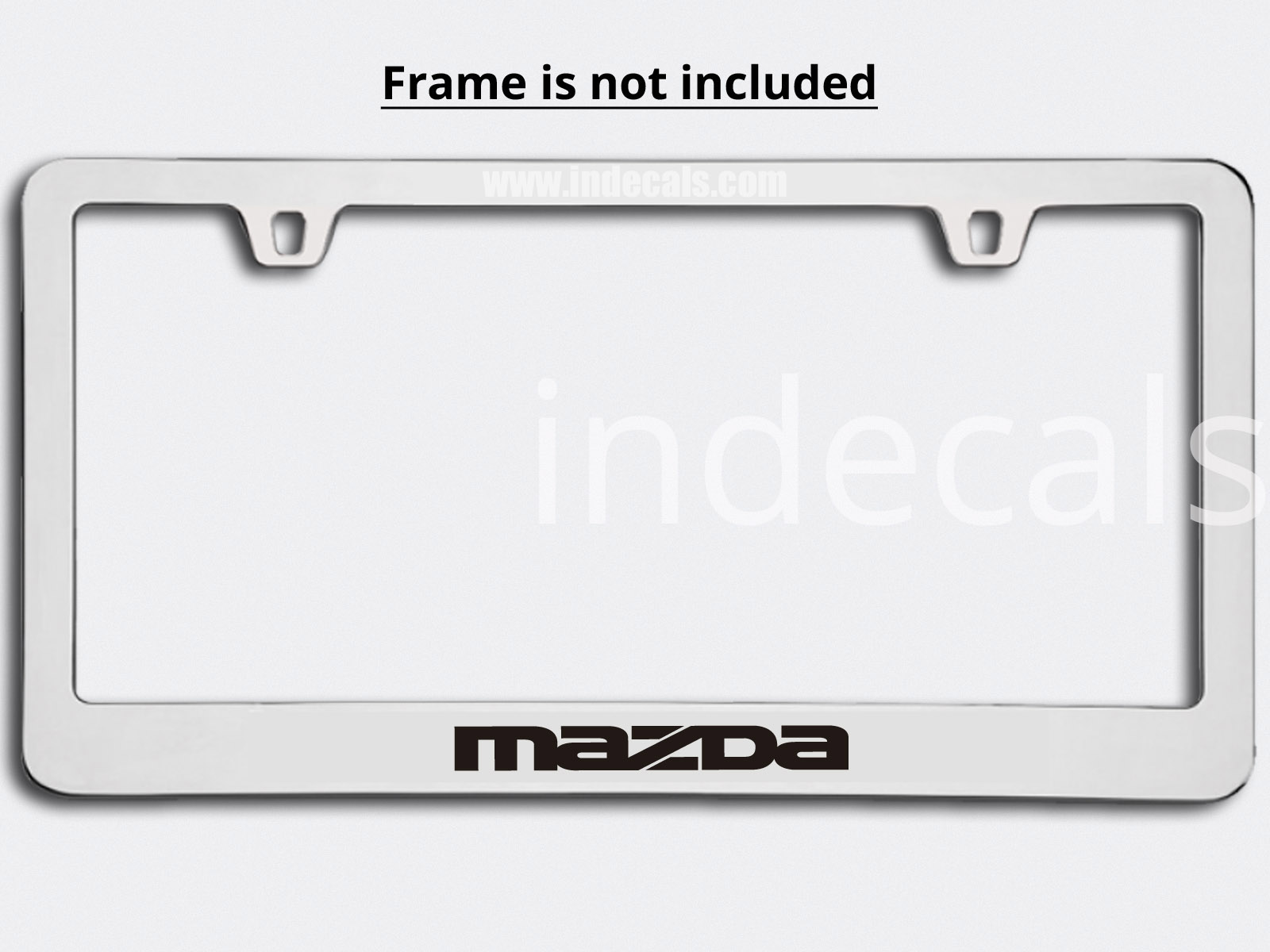 3 x Mazda Stickers for Plate Frame - Black