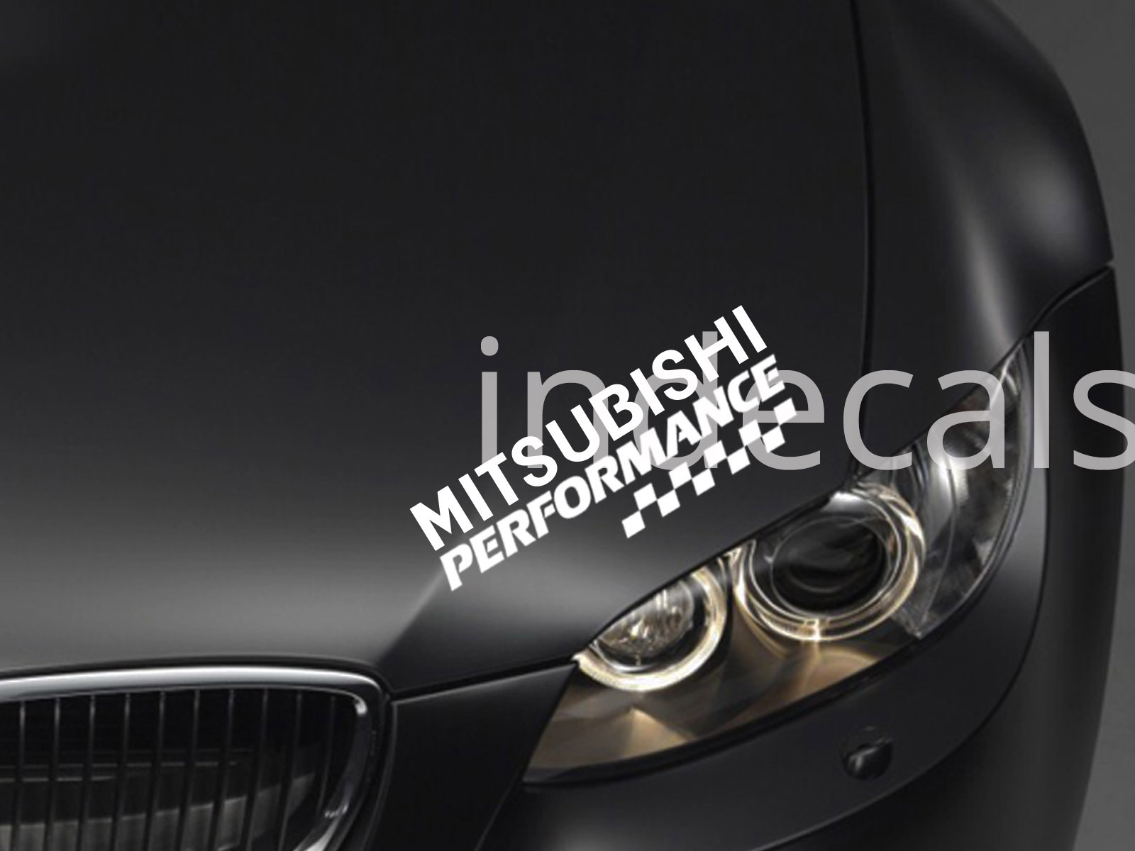 1 x Mitsubishi Performance Sticker for Eyebrow - White