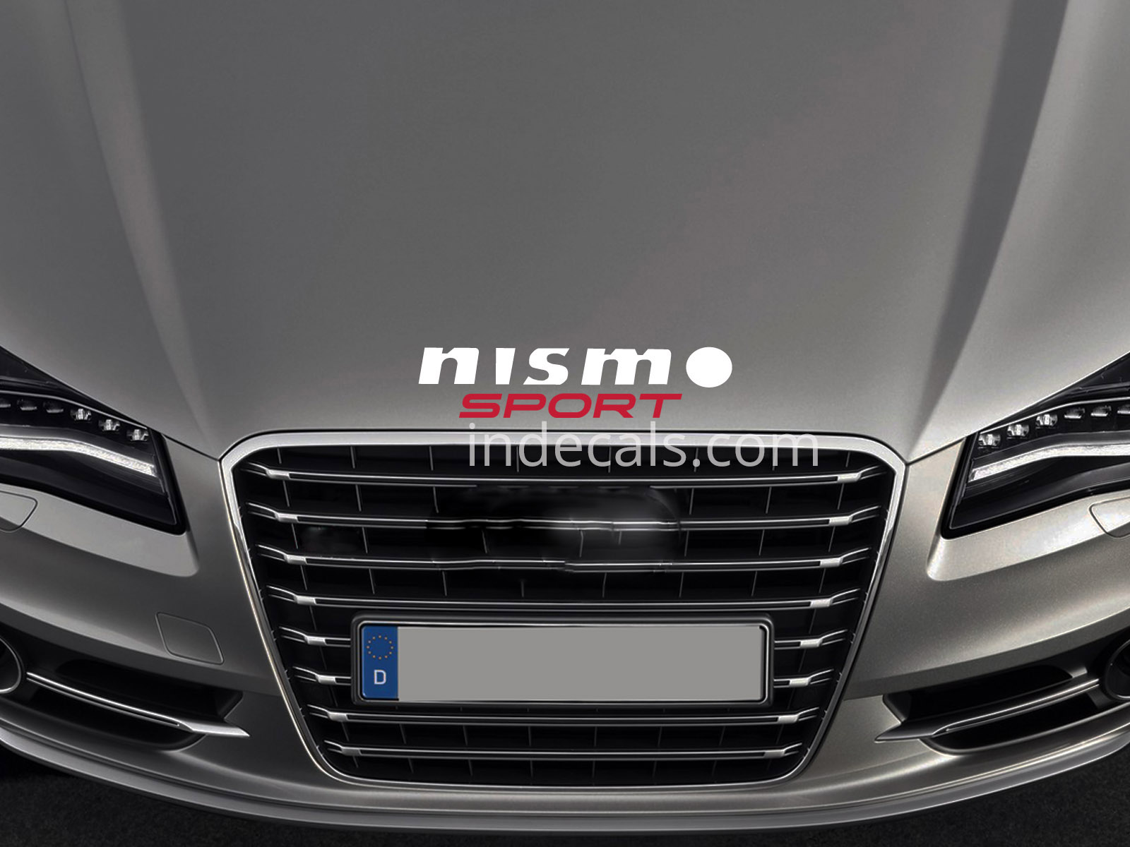1 x Nismo Sport Sticker for Bonnet - White & Red