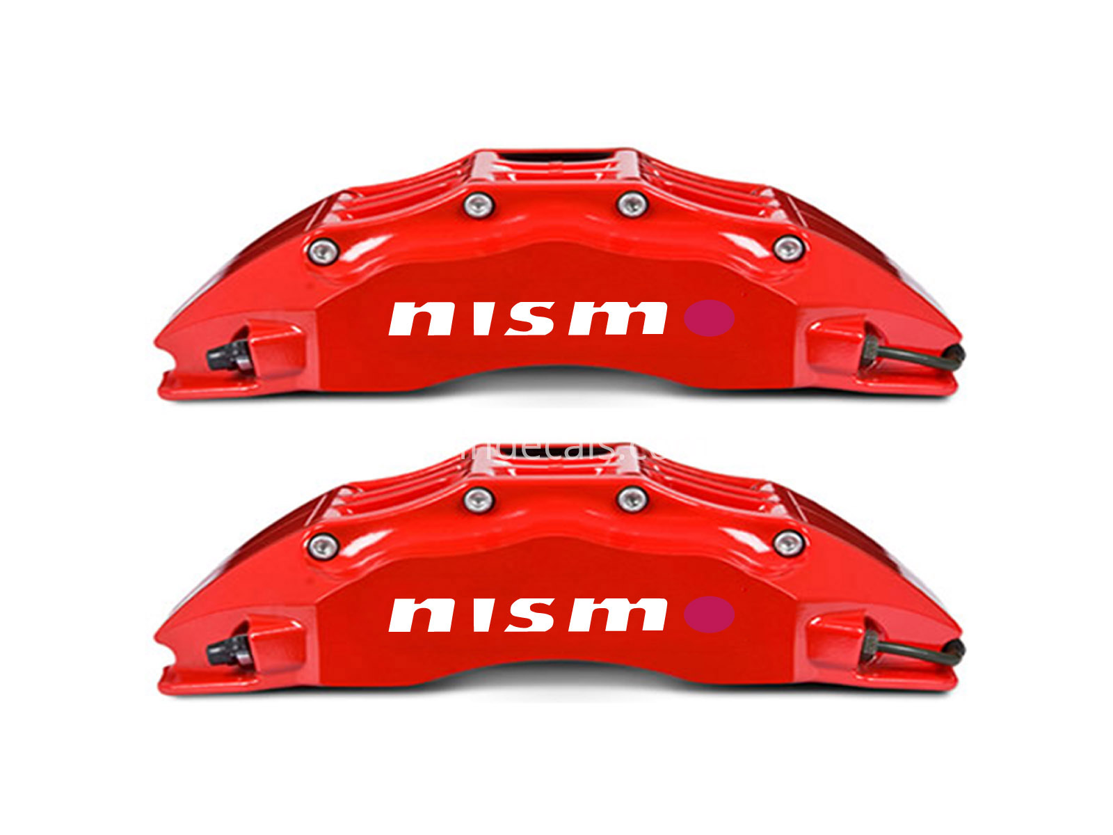 6 x Nismo Stickers for Brakes - White