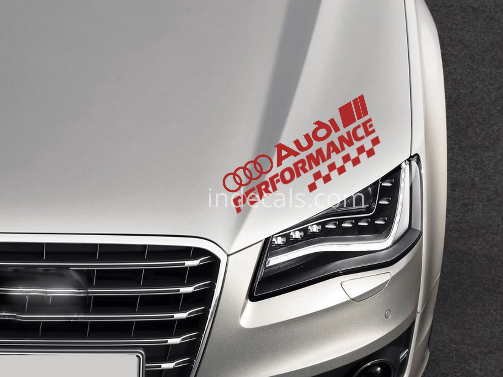 1 x Audi Performance Sticker - Red