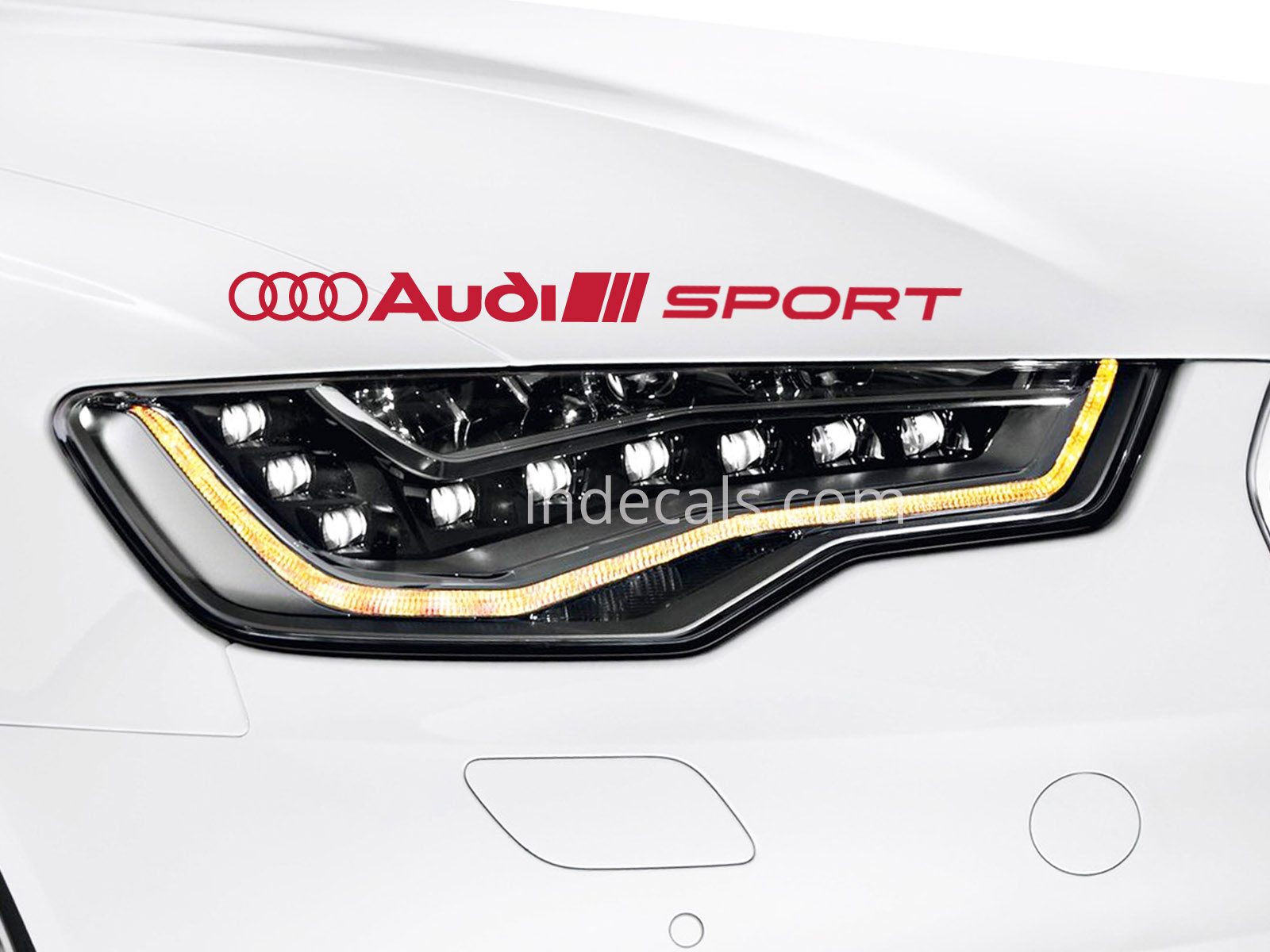 1 x Audi Sport Sticker - Red