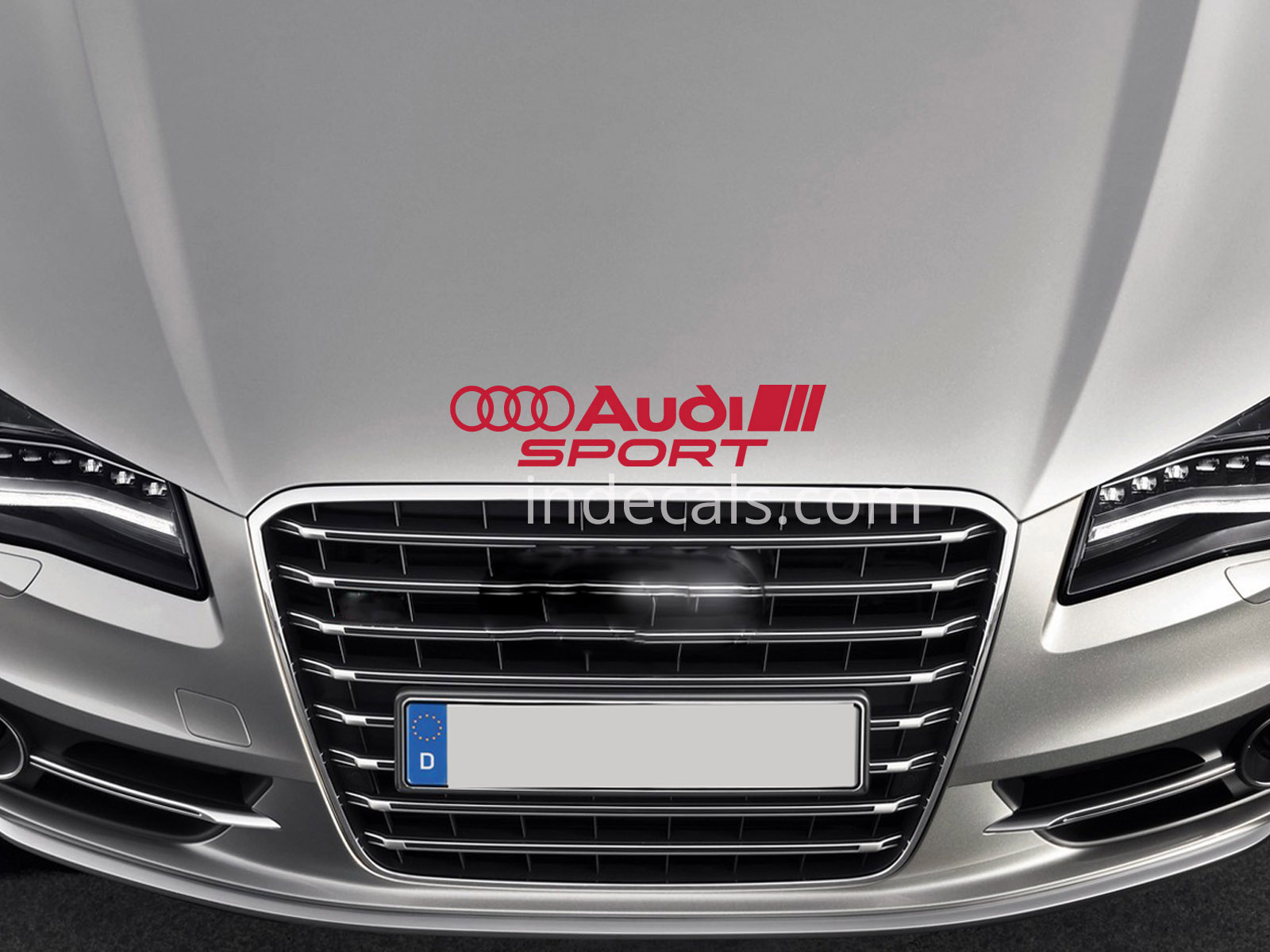 1 x Audi Sport Sticker for Bonnet - Red