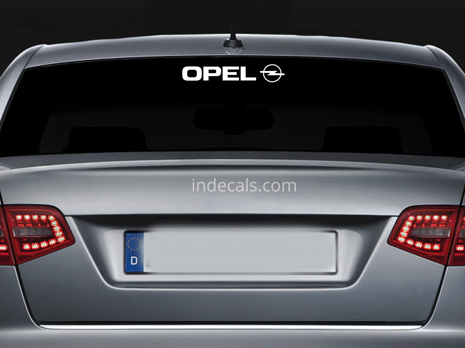 1 x Opel Sticker for Windshield or Back Window - White
