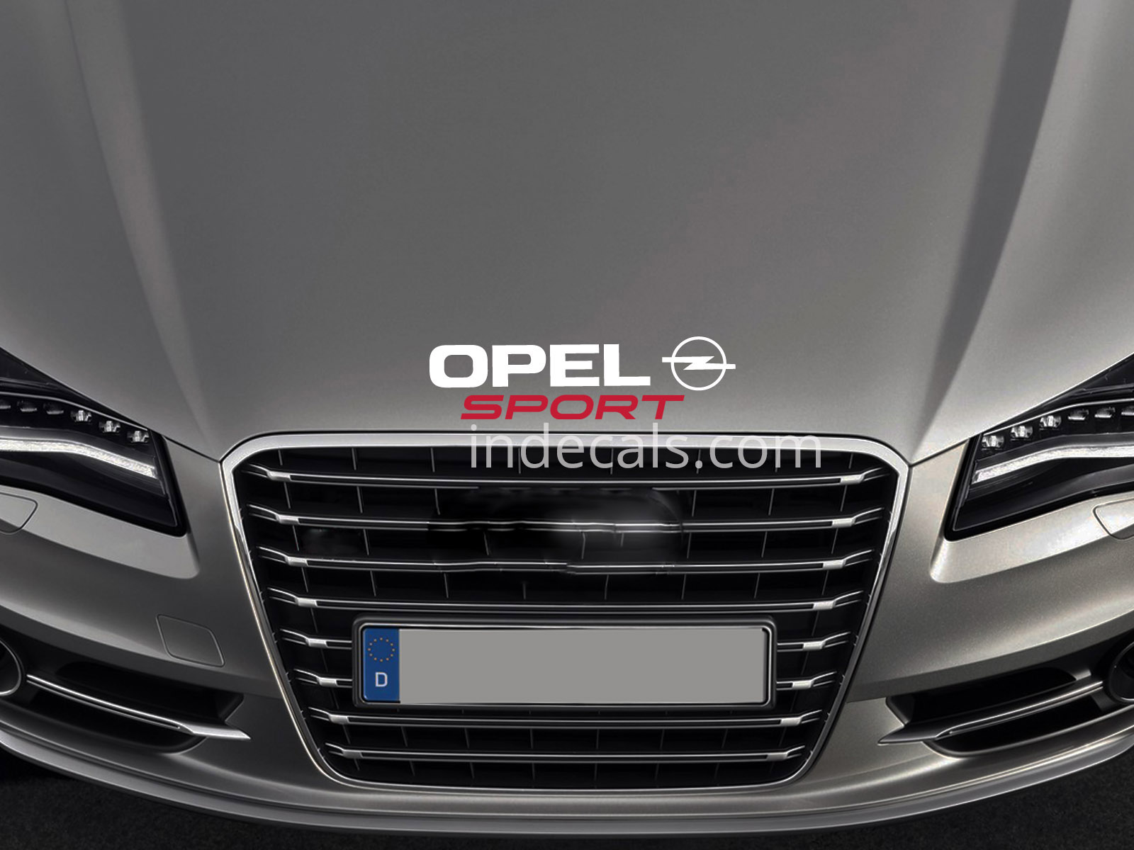 1 x Opel Sport Sticker for Bonnet - White & Red