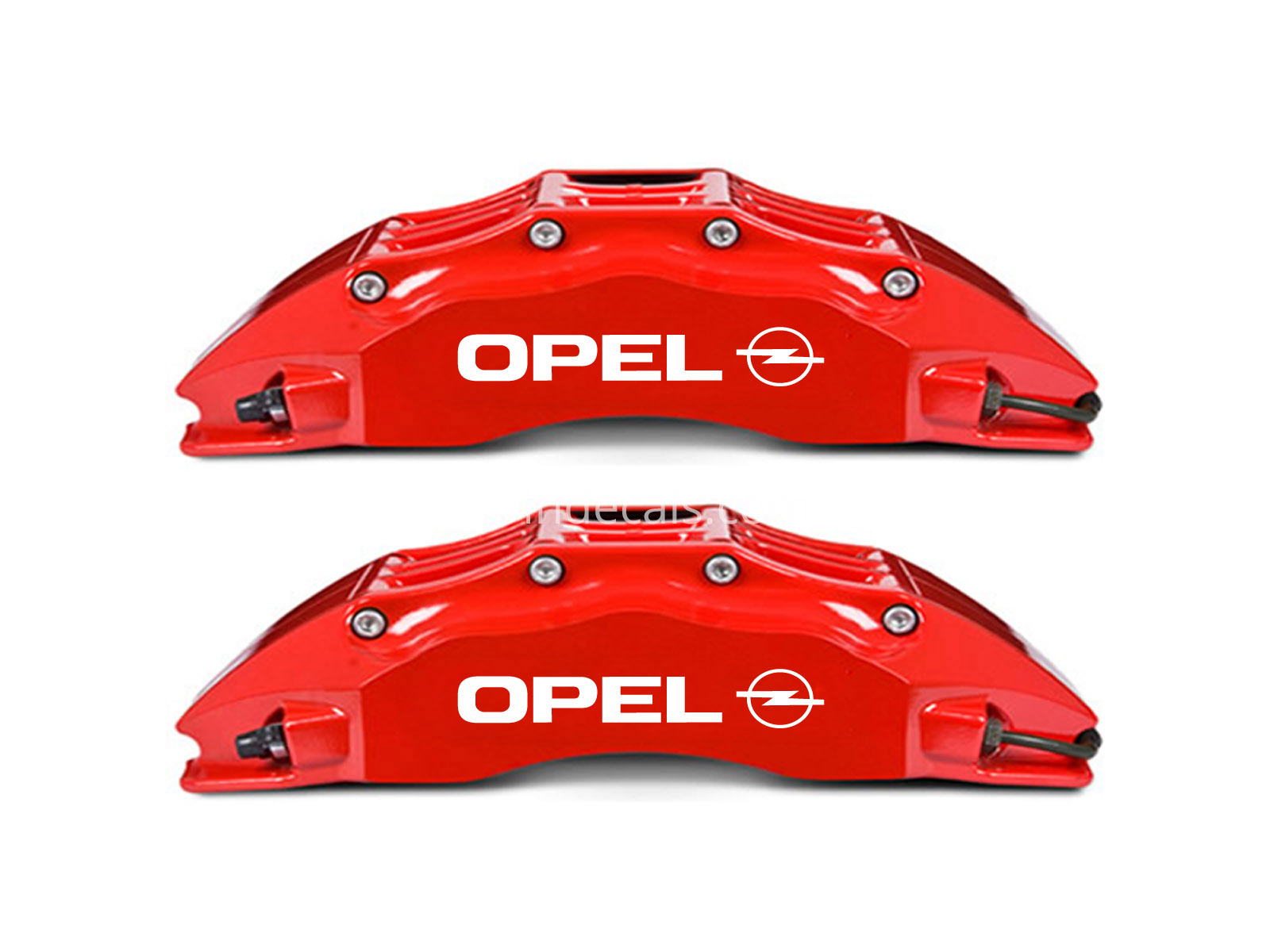 6 x Opel Stickers for Brakes - White