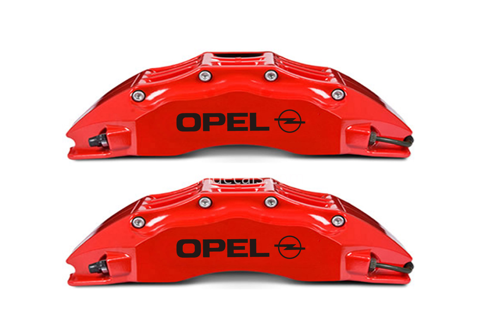 6 x Opel Stickers for Brakes - Black