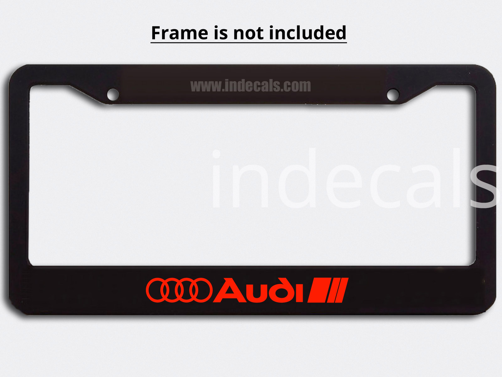 3 x Audi Stickers for Plate Frame - Red