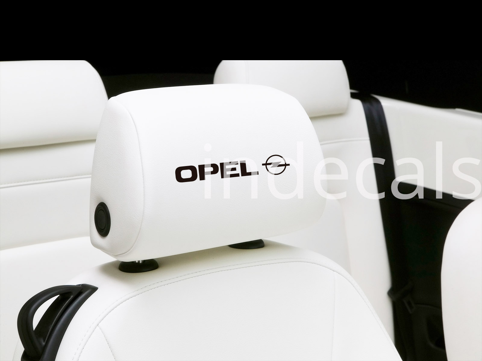 6 x Opel Stickers for Headrests - Black