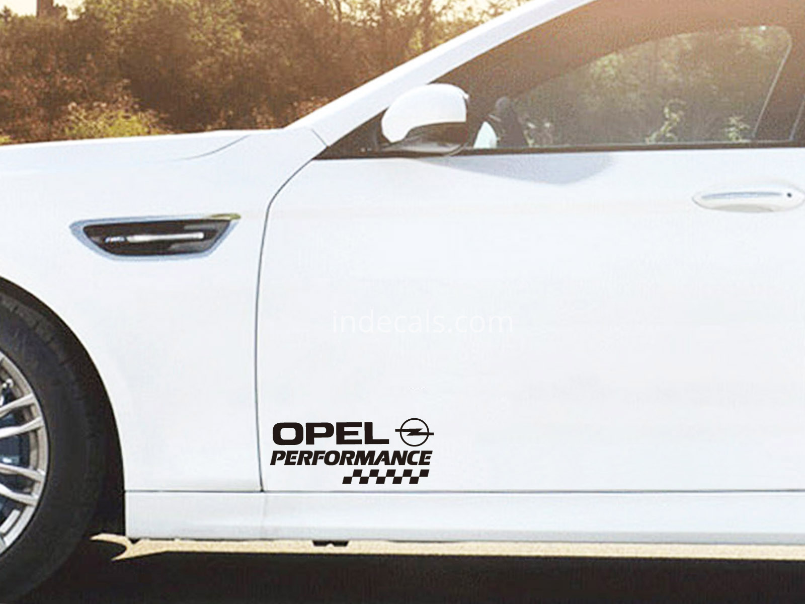 2 x Opel Performance Stickers for Doors - Black