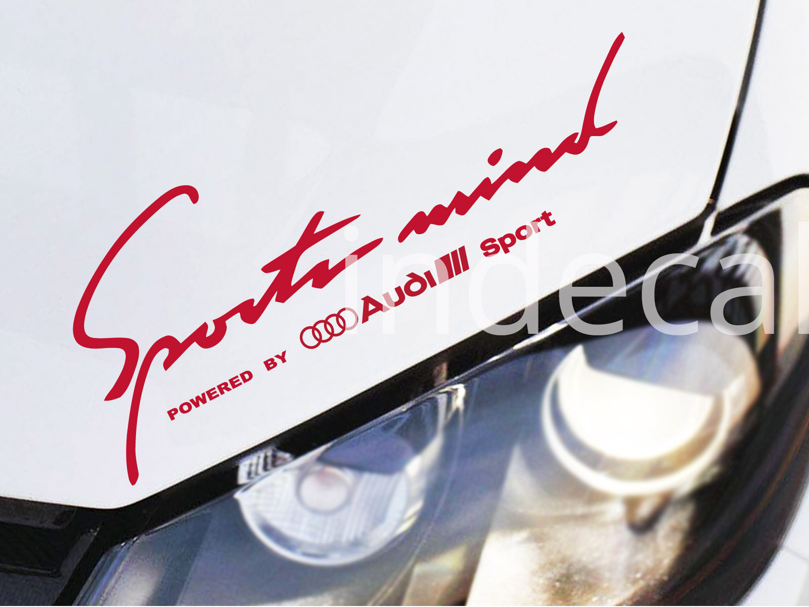 1 x Audi Sports Mind Sticker - Red