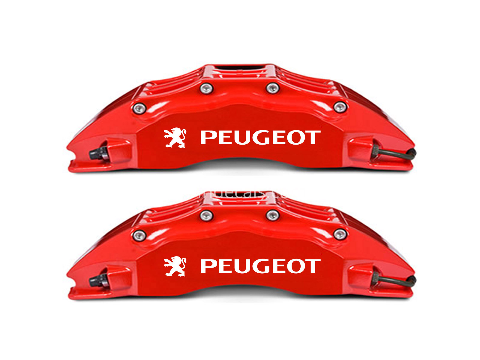 6 x Peugeot Stickers for Brakes - White