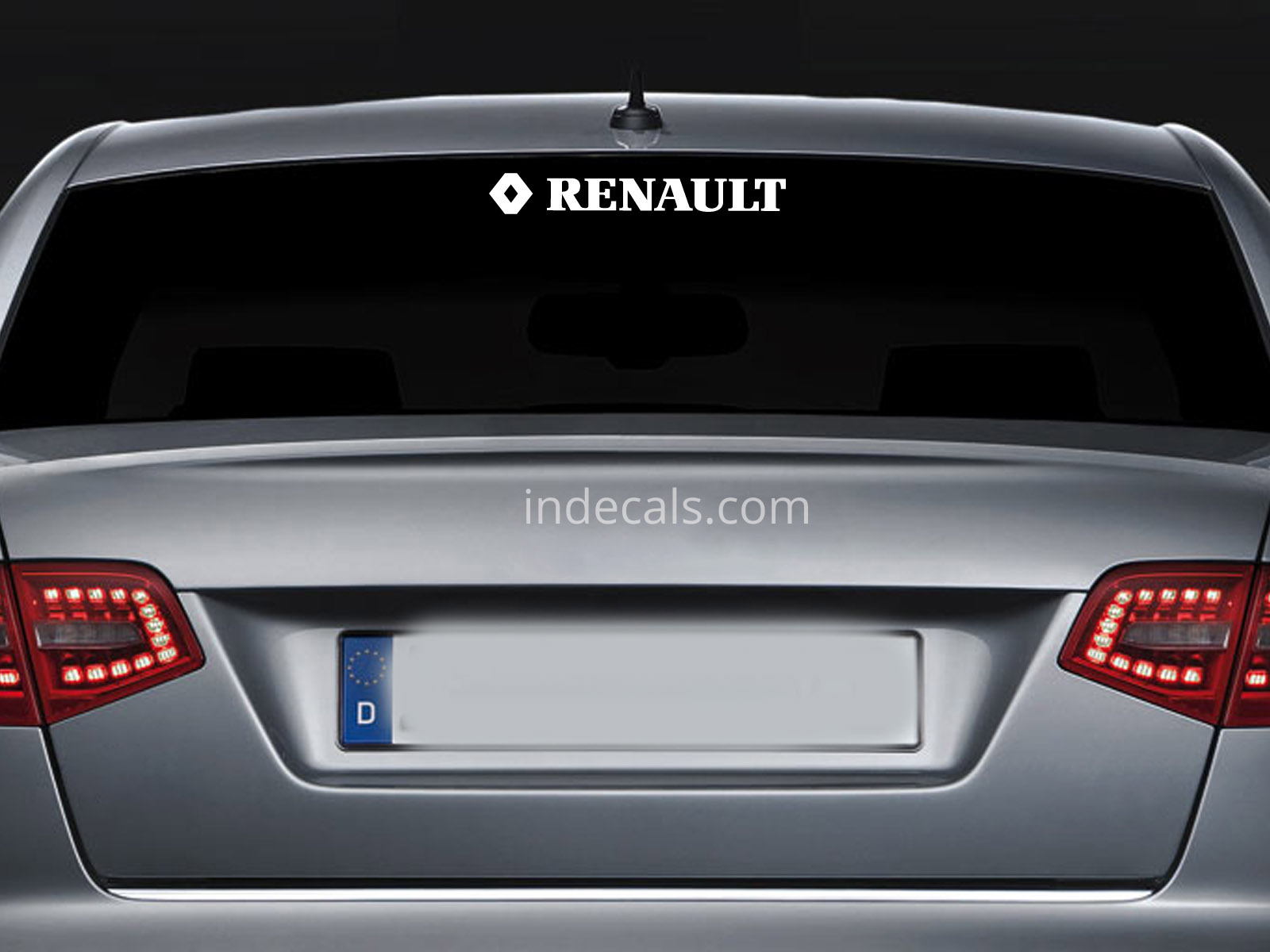 1 x Renault Sticker for Windshield or Back Window - White