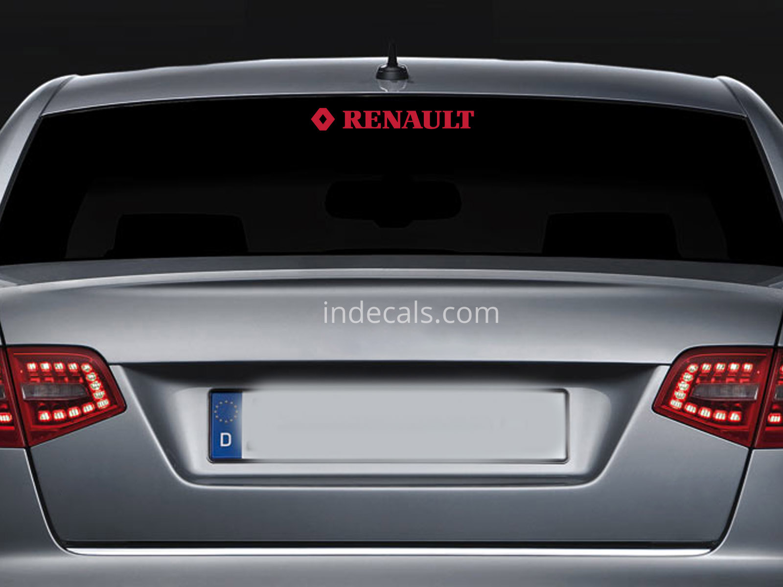 1 x Renault Sticker for Windshield or Back Window - Red