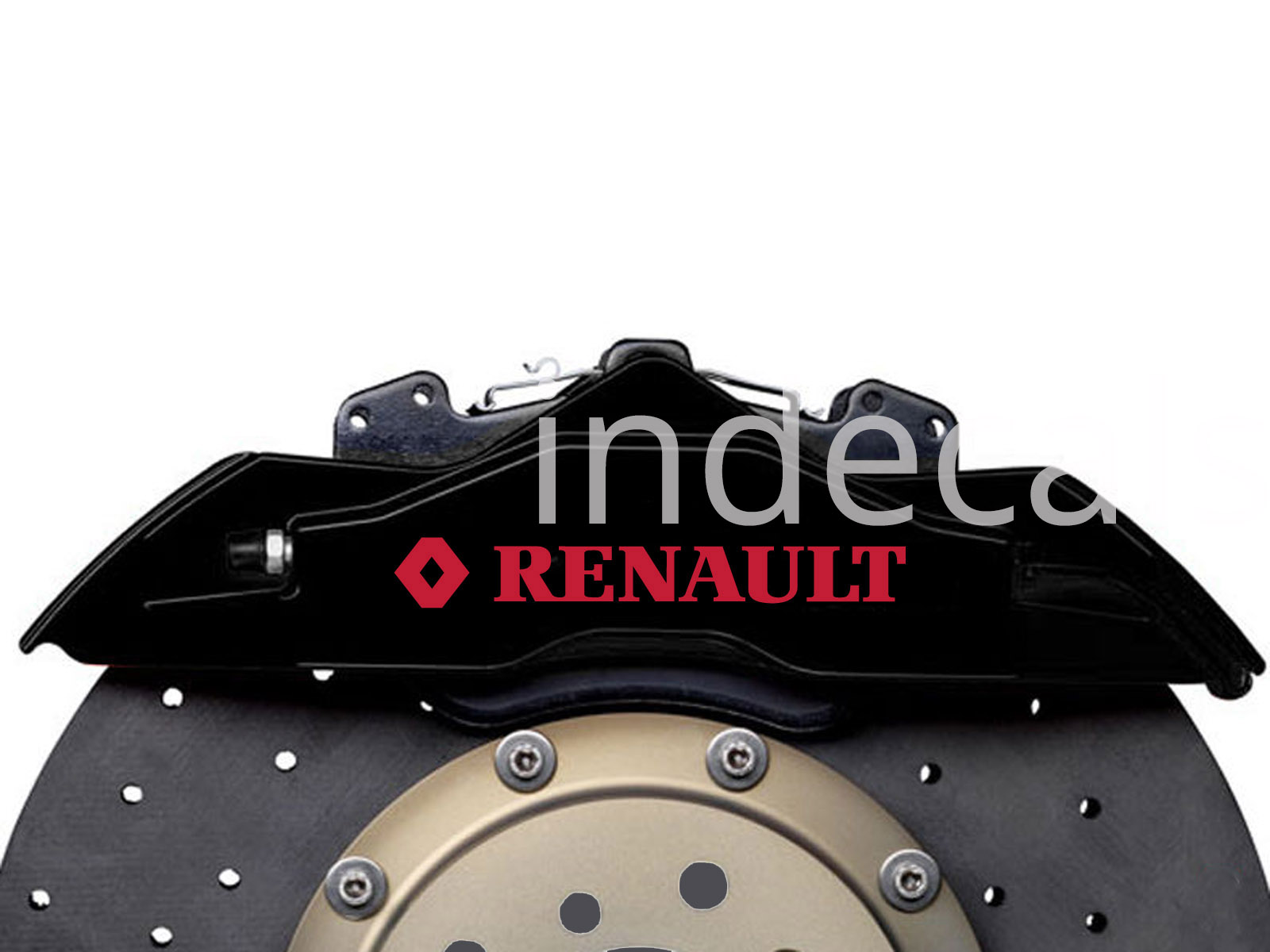 6 x Renault Stickers for Brakes - Red