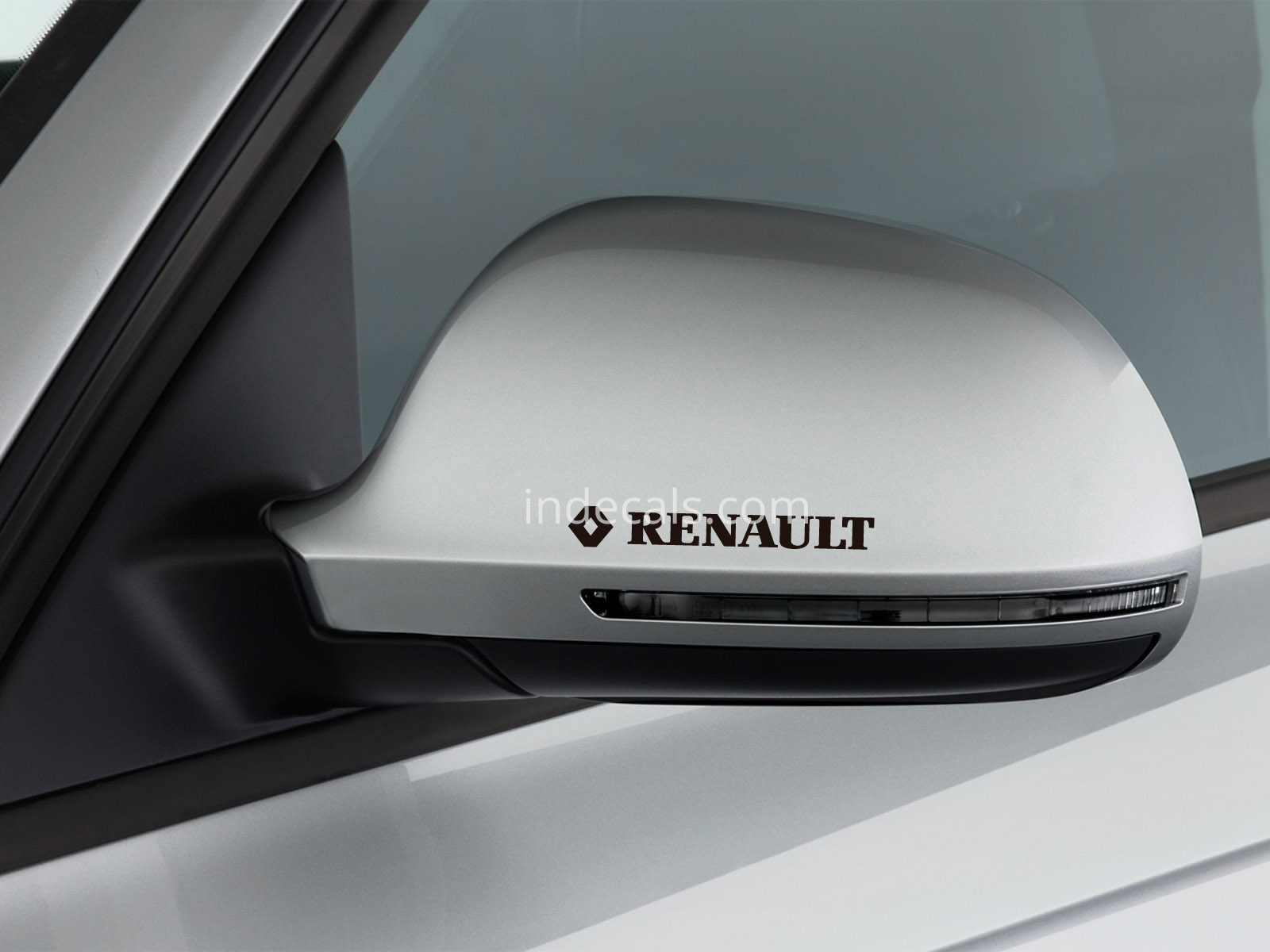 3 x Renault Stickers for Mirrors - Black