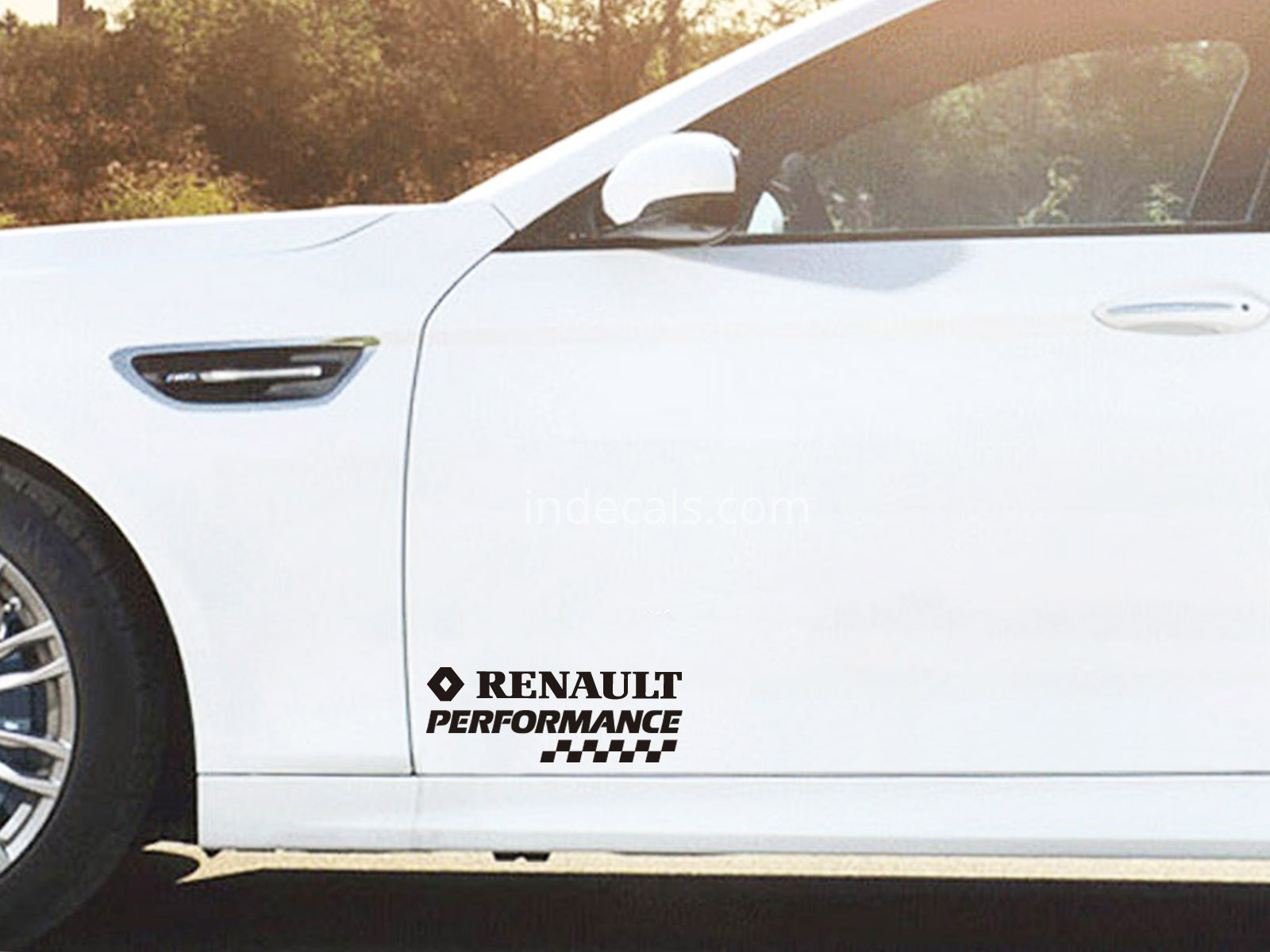 2 x Renault Performance Stickers for Doors - Black