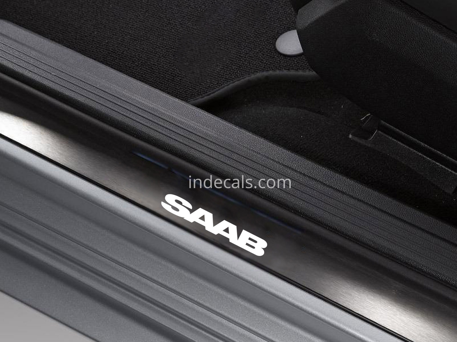 6 x Saab Stickers for Door Sills - White