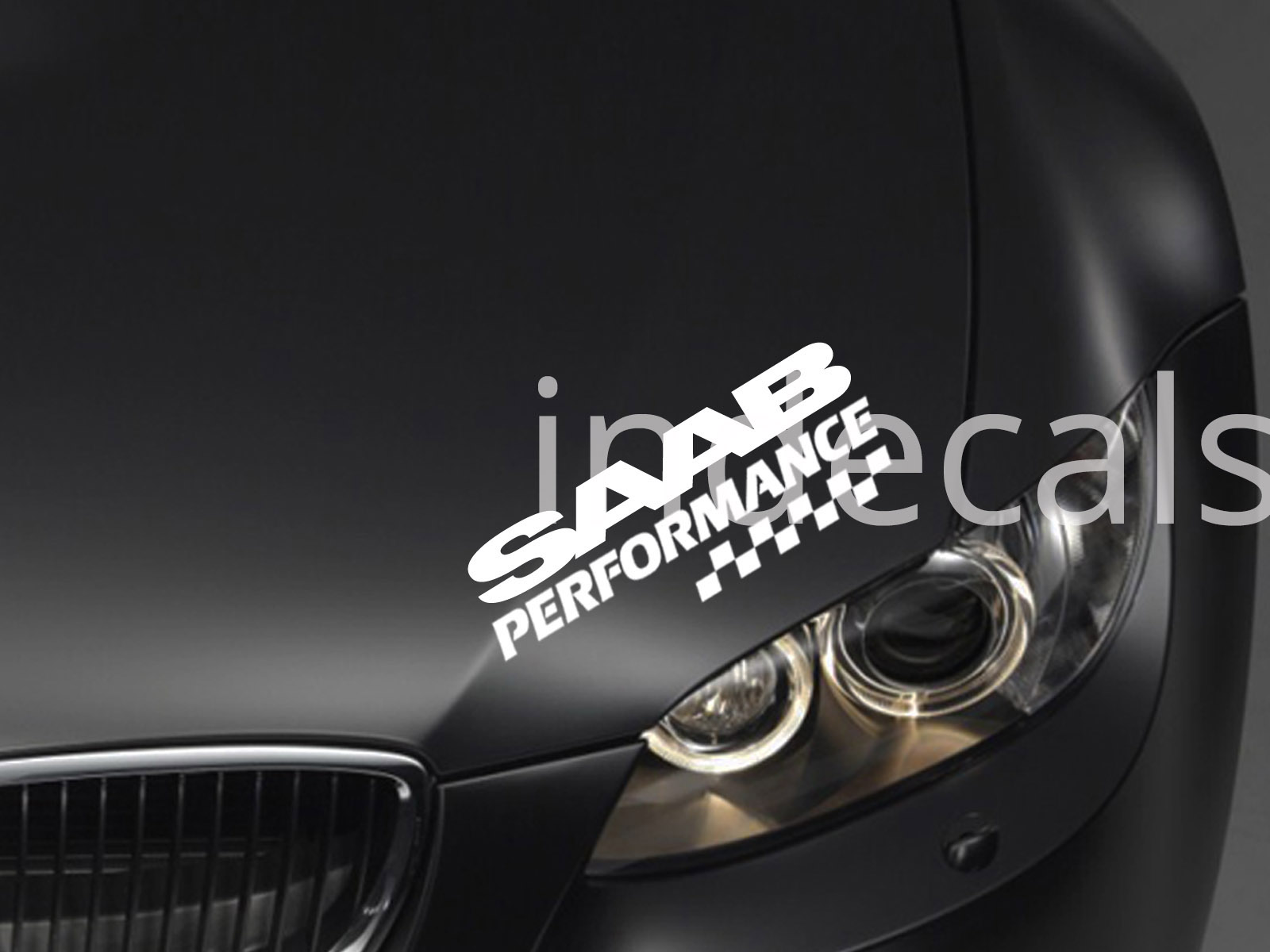 1 x Saab Performance Sticker for Eyebrow - White