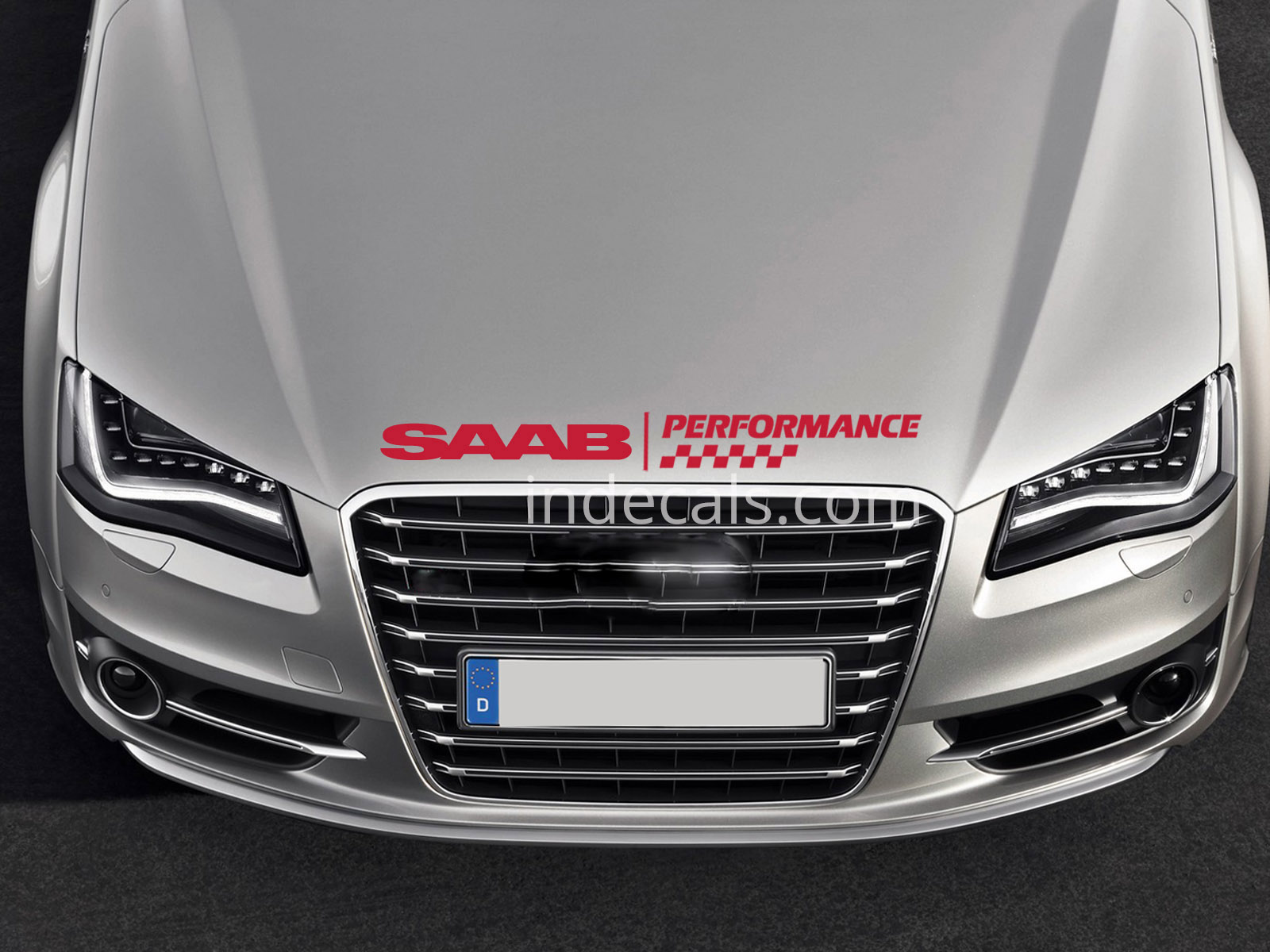 1 x Saab Performance Sticker for Bonnet - Red