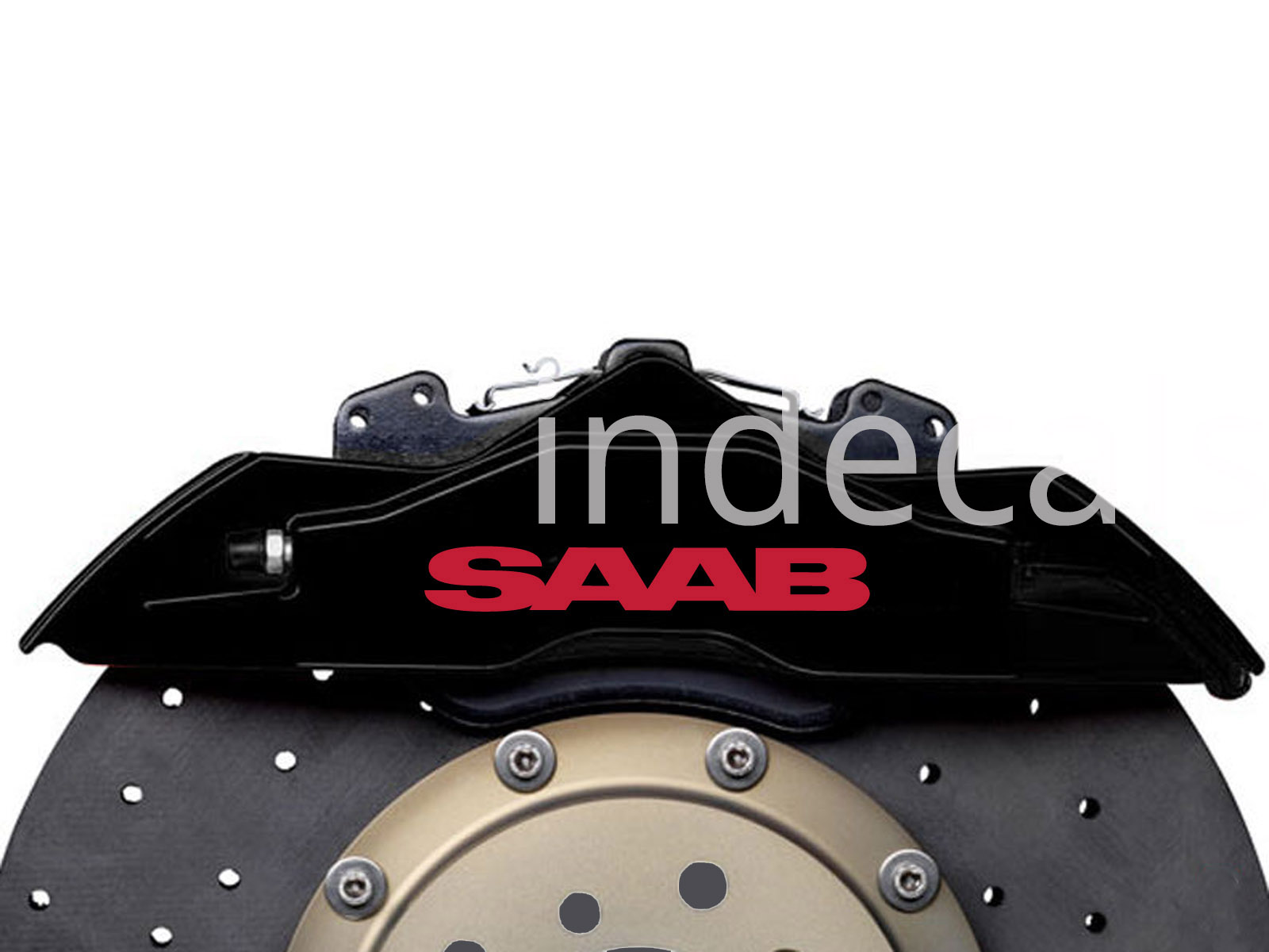 6 x Saab Stickers for Brakes - Red