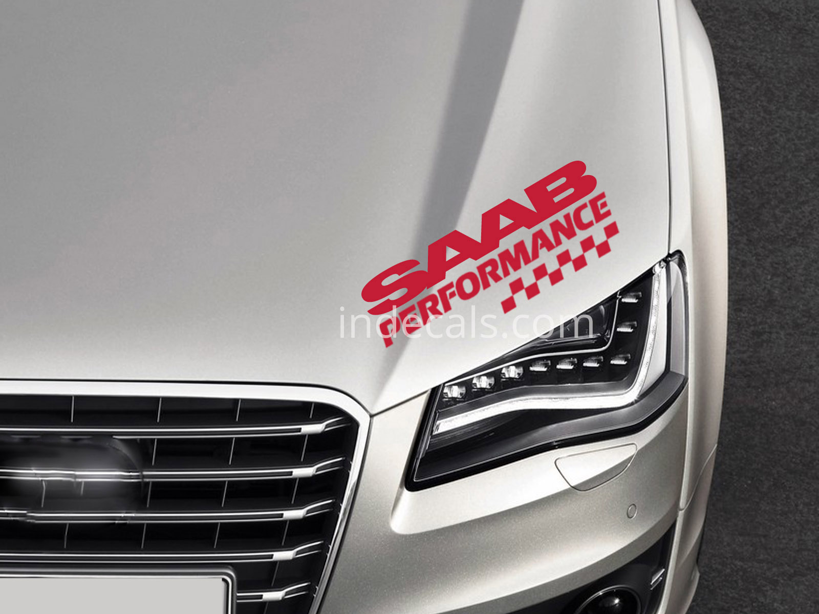 1 x Saab Performance Sticker - Red