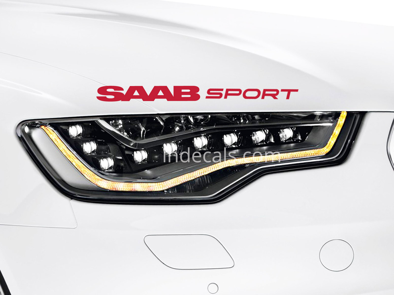 1 x Saab Sport Sticker - Red