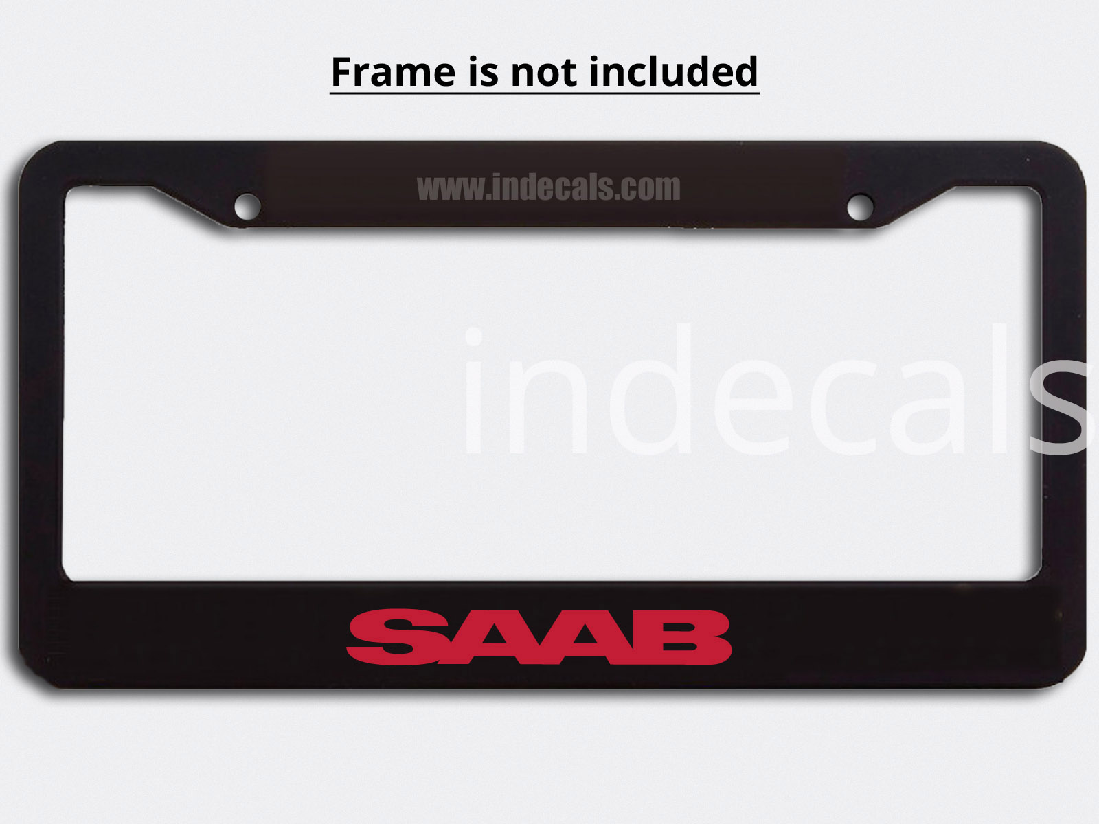 3 x Saab Stickers for Plate Frame - Red