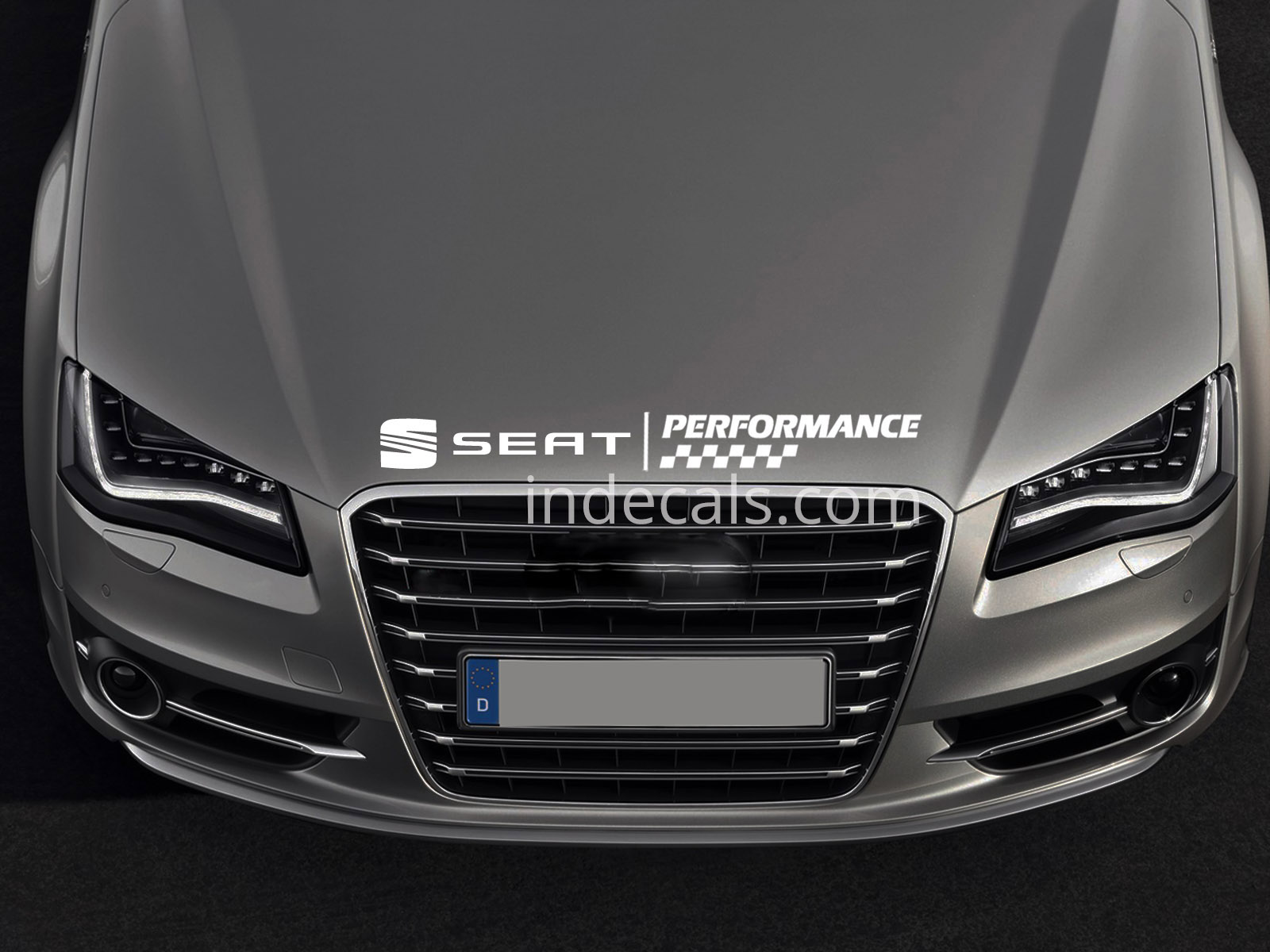 1 x Seat Peformance Sticker for Bonnet - White