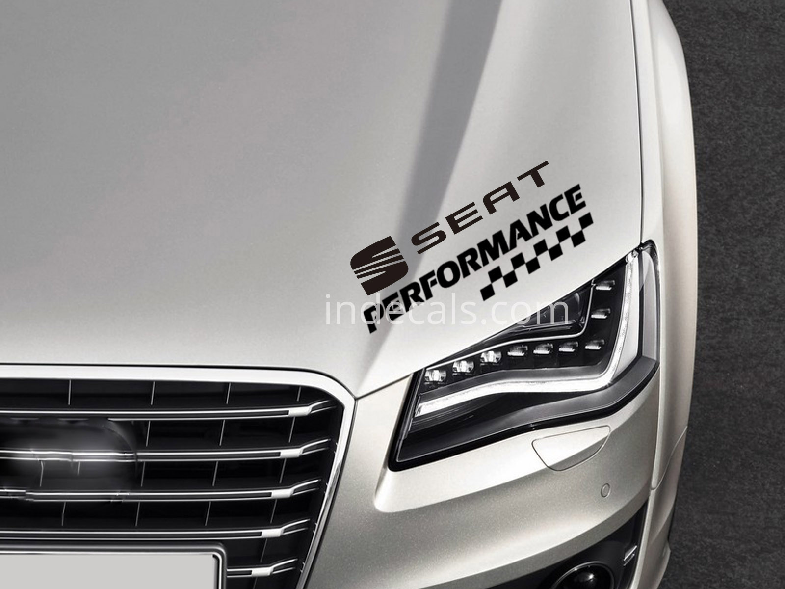 1 x Seat Performance Sticker - Black