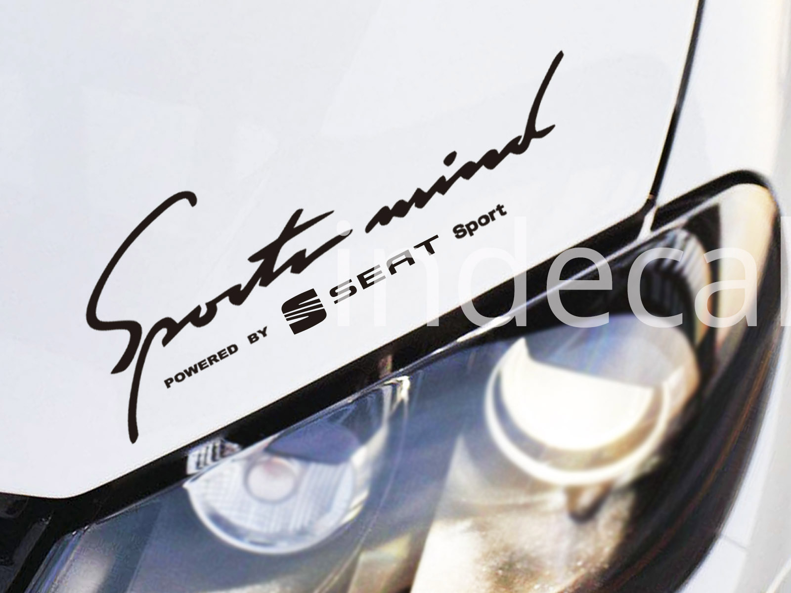 1 x Seat Sports Mind Sticker - Black