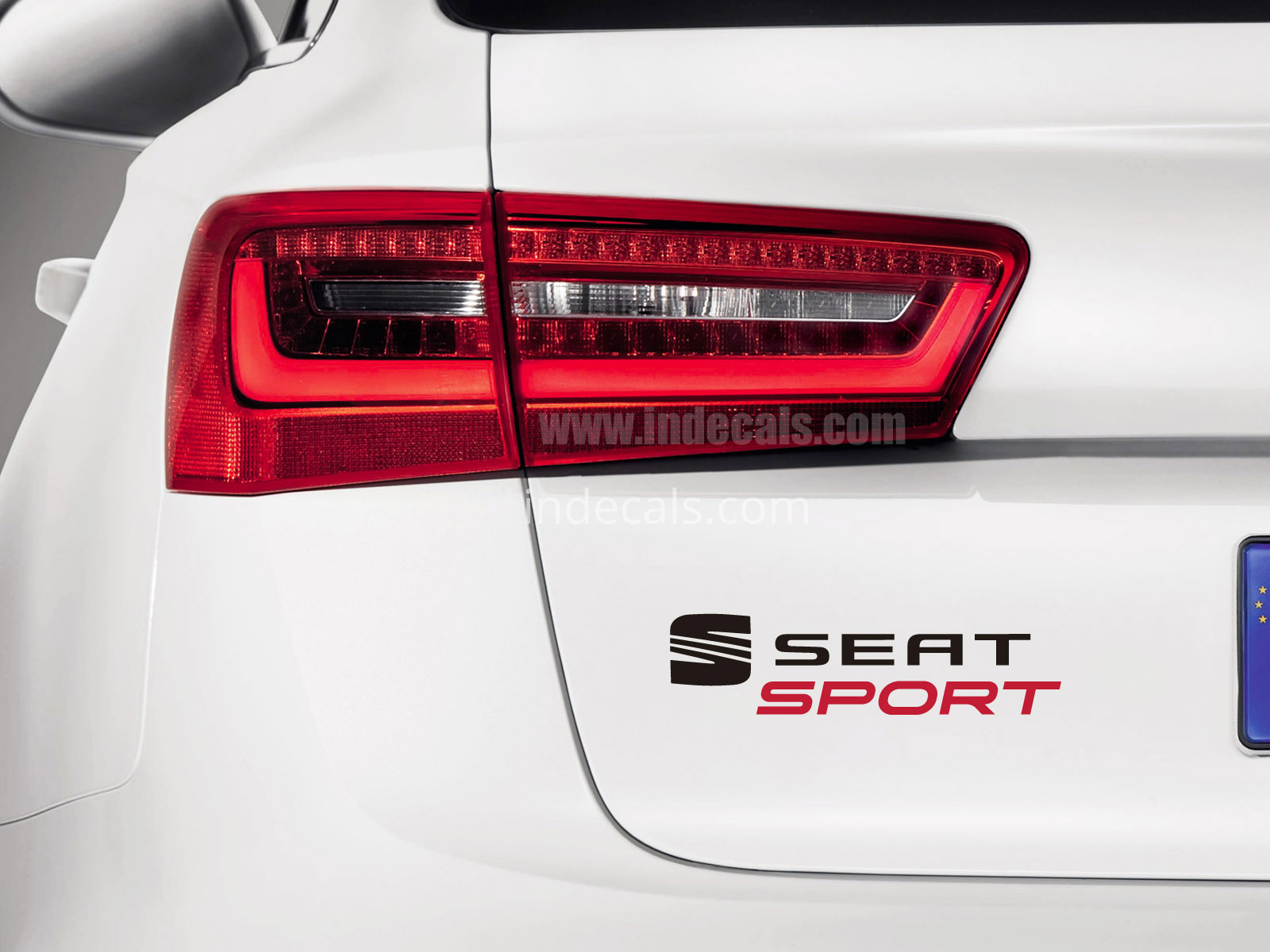 1 x Seat Sports Sticker for Trunk - Black & Red